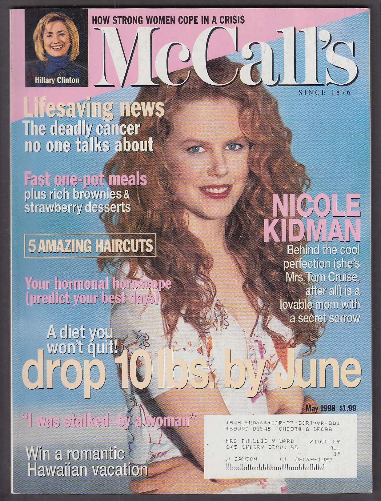 Image for McCALL'S Nicole Kidman Hillary Clinton 5 1998