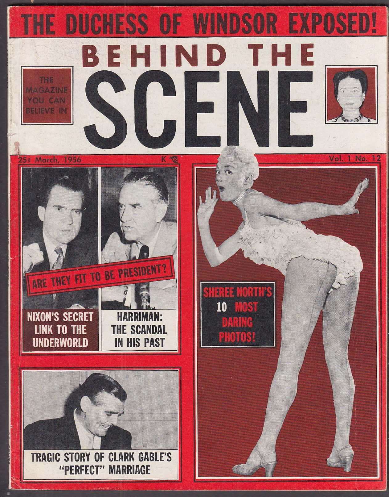 Image for BEHIND THE SCENE Sheree North Clark Gable Ekberg Nixon Harriman 3 1956