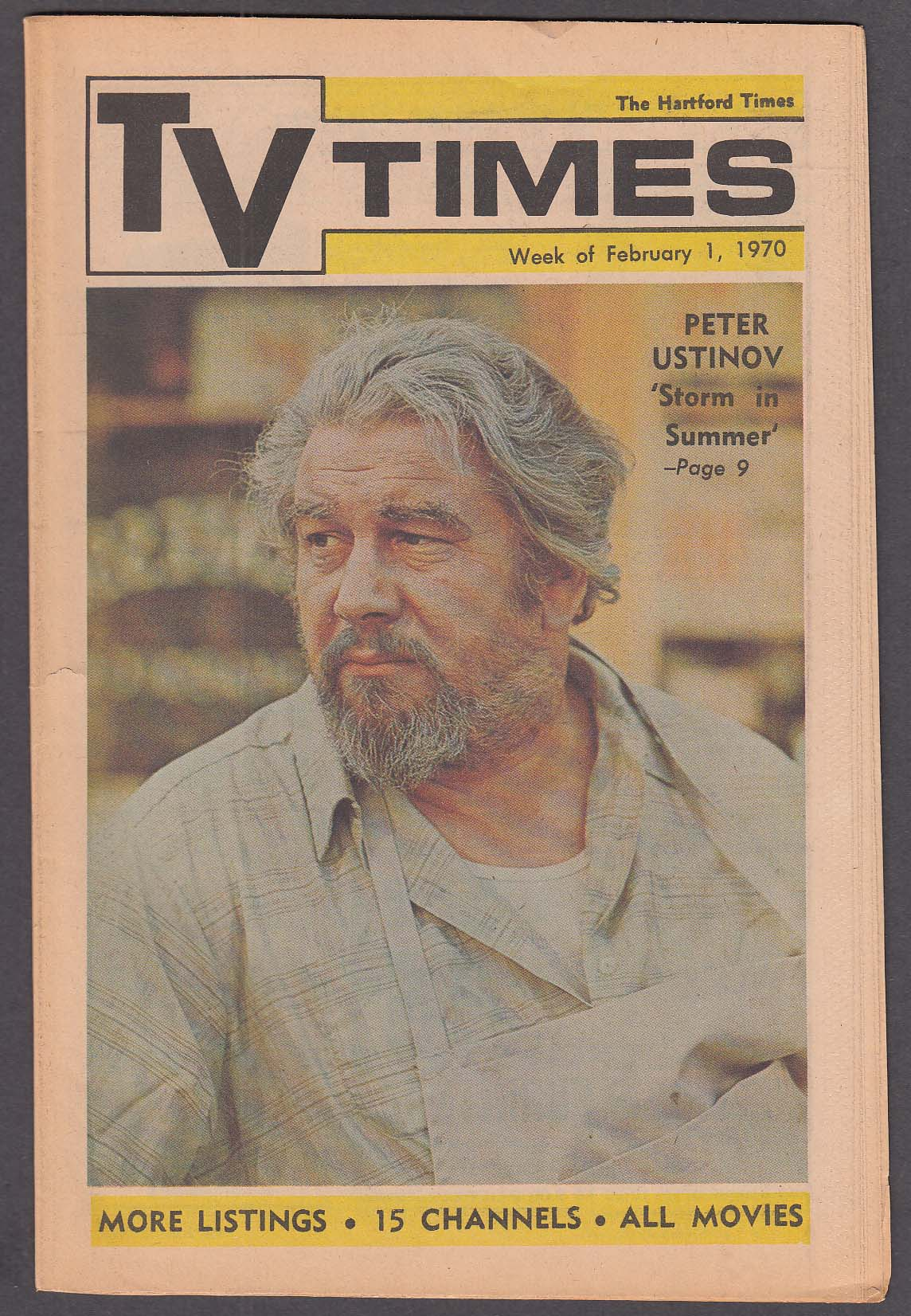Image for TV TIMES Peter Ustinov 2/1 1970
