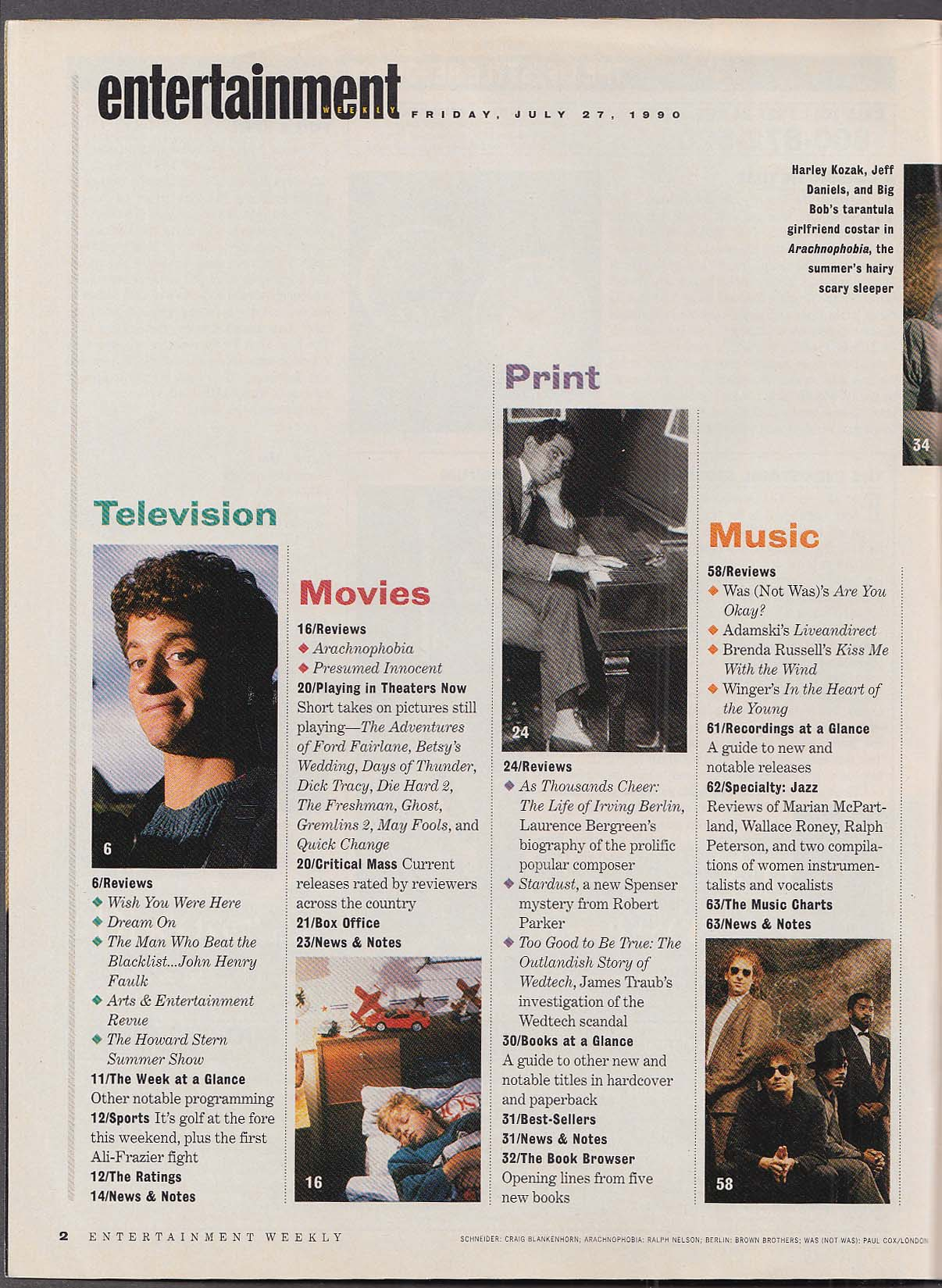 Image for ENTERTAINMENT WEEKLY #24 Jeff Daniels; Oates on Andrew Dice Clay ++ 7/27 1990