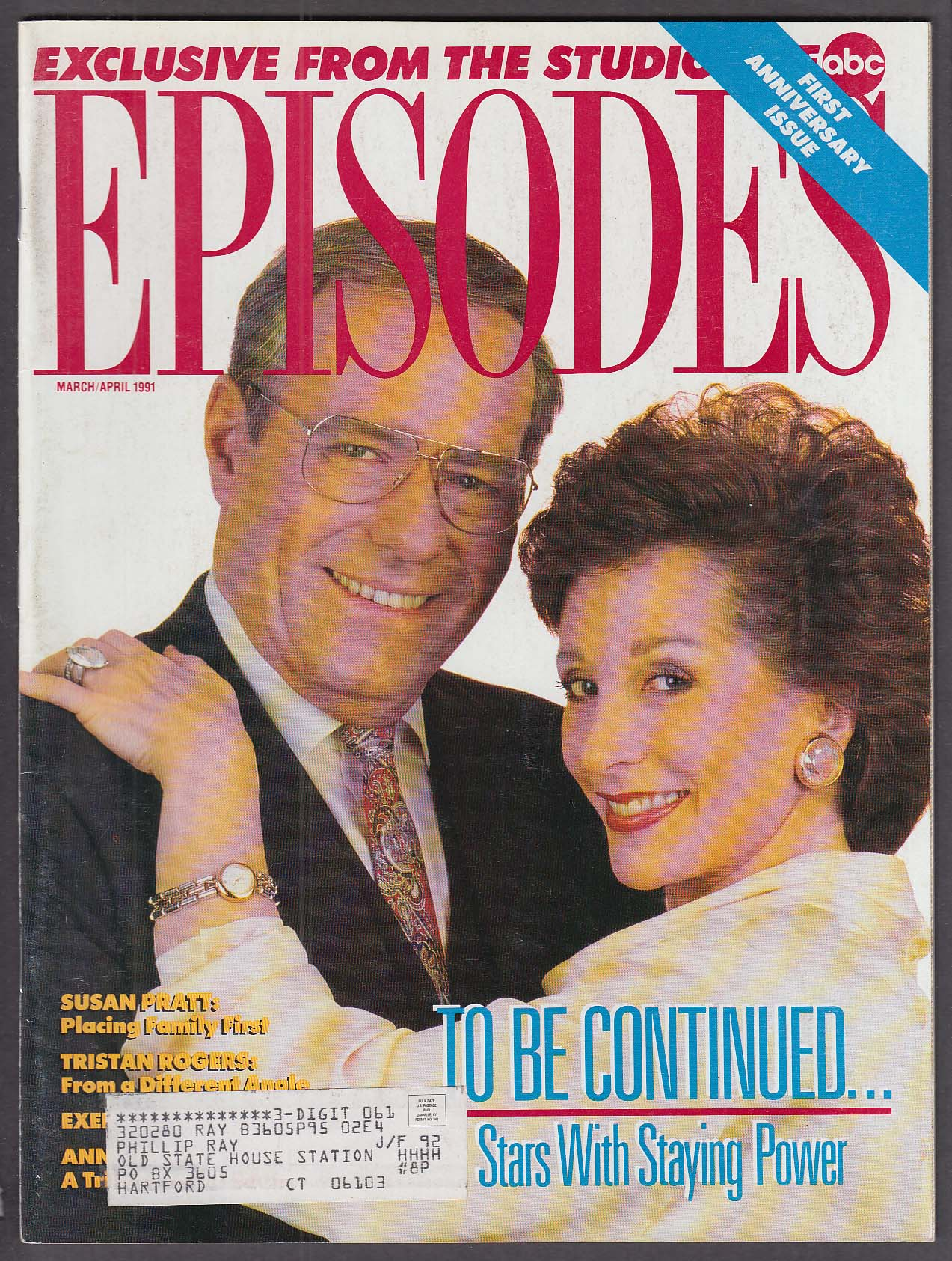 Image for EPISODES Philip Carey Patricia Elliott Gloria Monty Susan Pratt + 3 1991