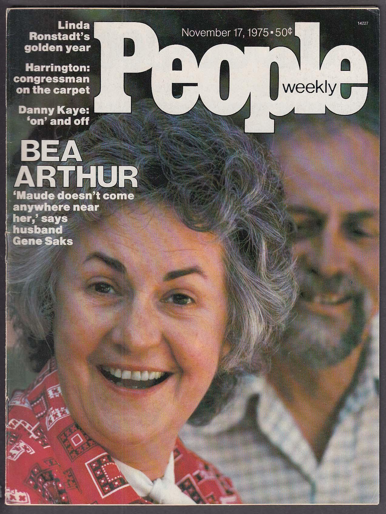 Image for PEOPLE Bea Arthur Linda Ronstadt Danny Kaye 11/17 1975