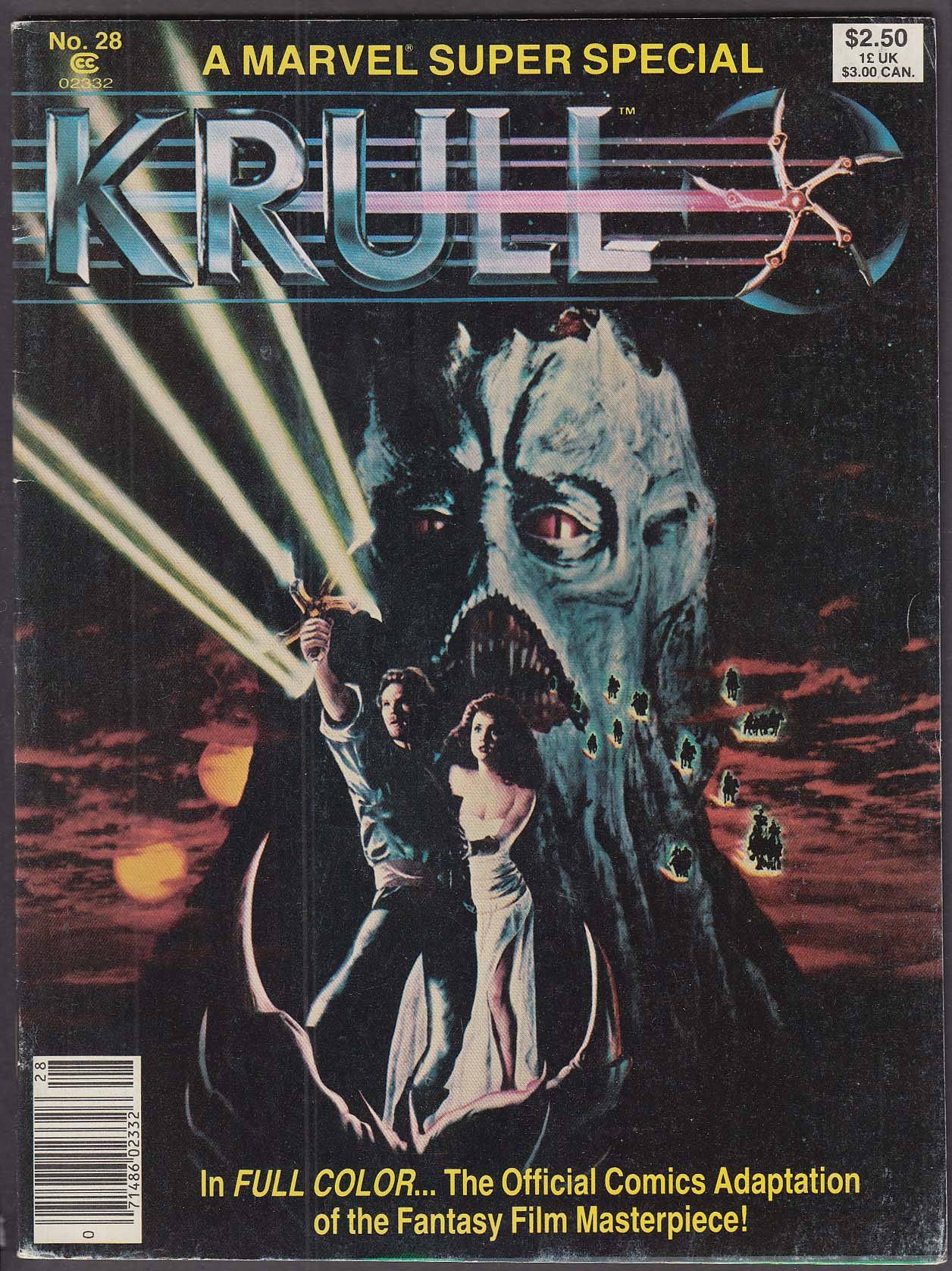 Image for Marvel Super Special #28 KRULL movie tie-in comic book 1983