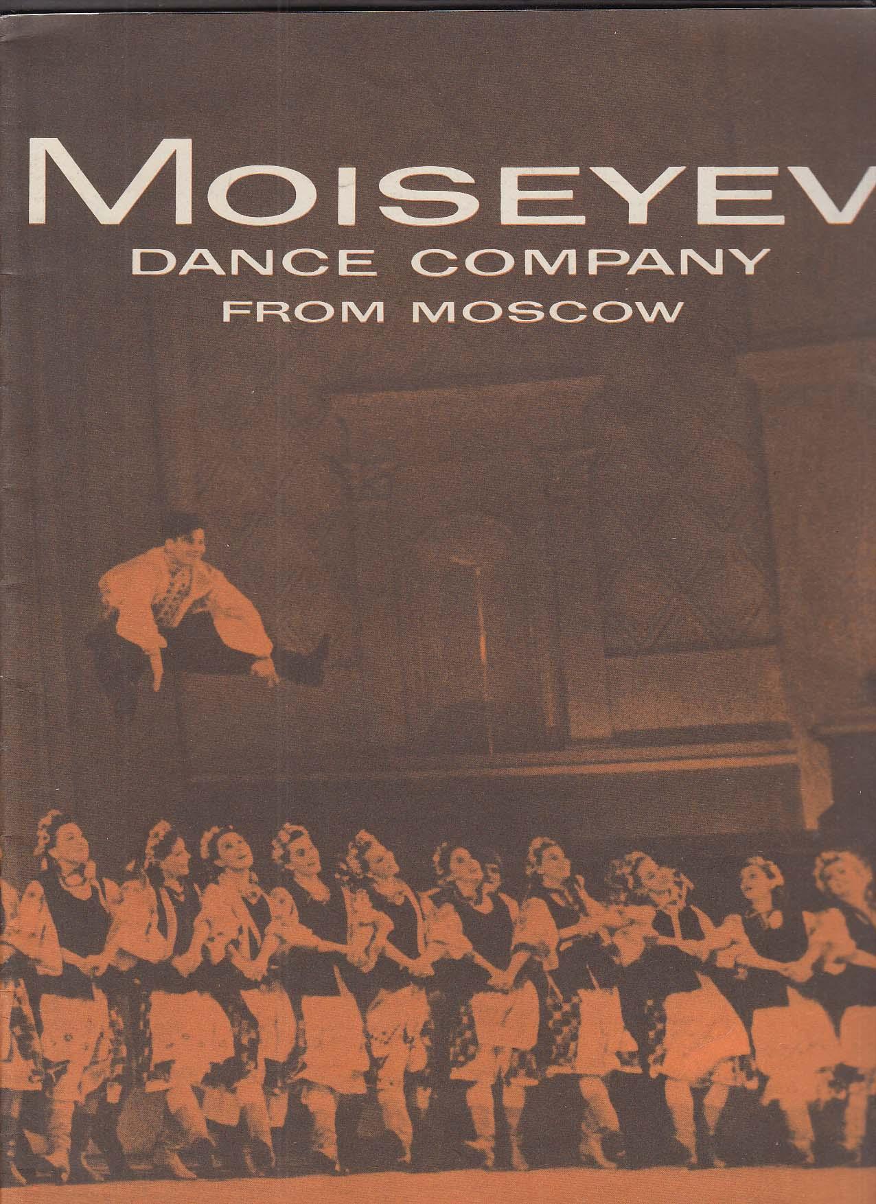 1958 Moiseyev Dance Company program