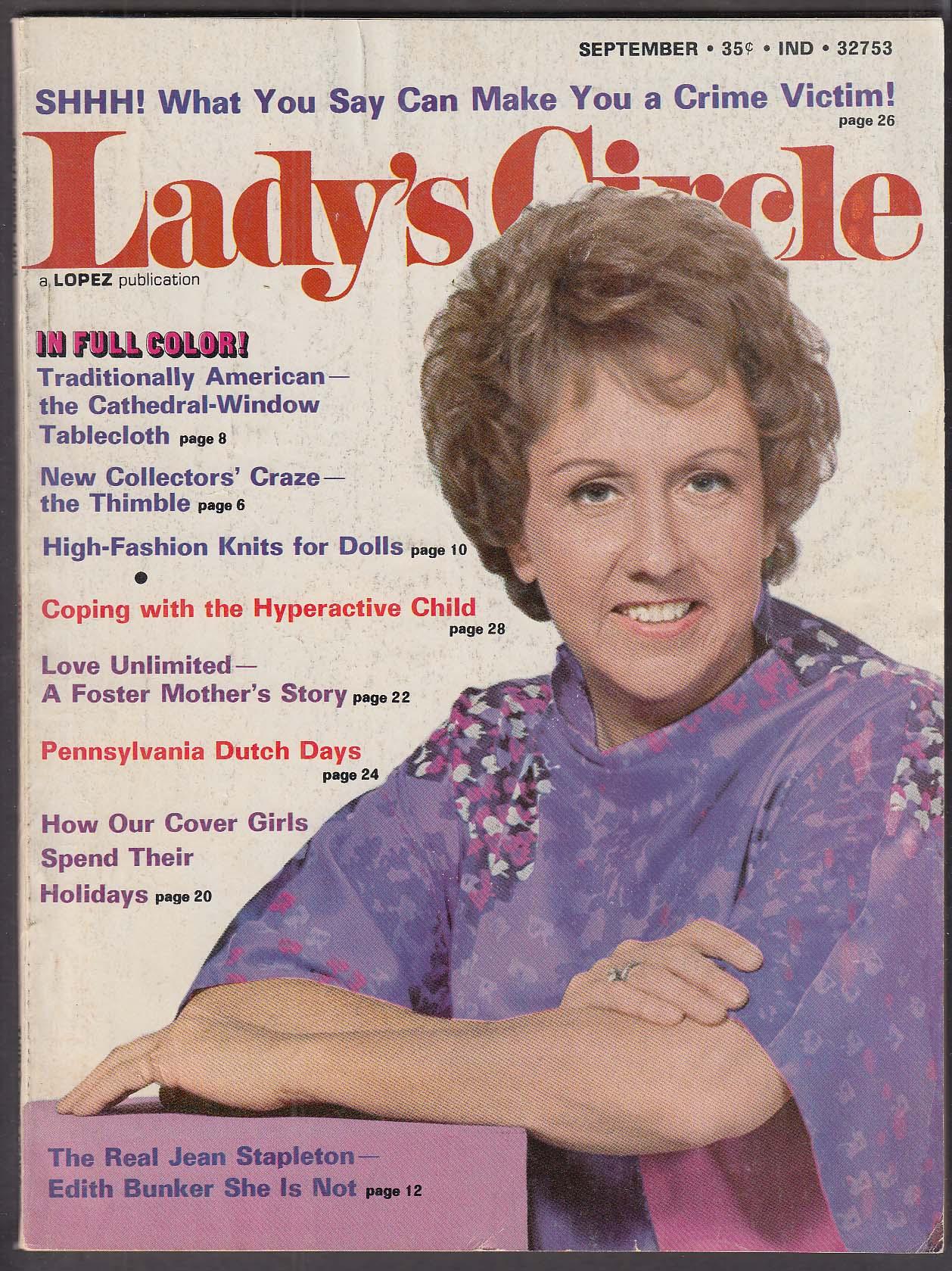 Image for LADY'S CIRCLE Jean Stapleton Edith Bunker Pennsylvania Dutch 9 1973