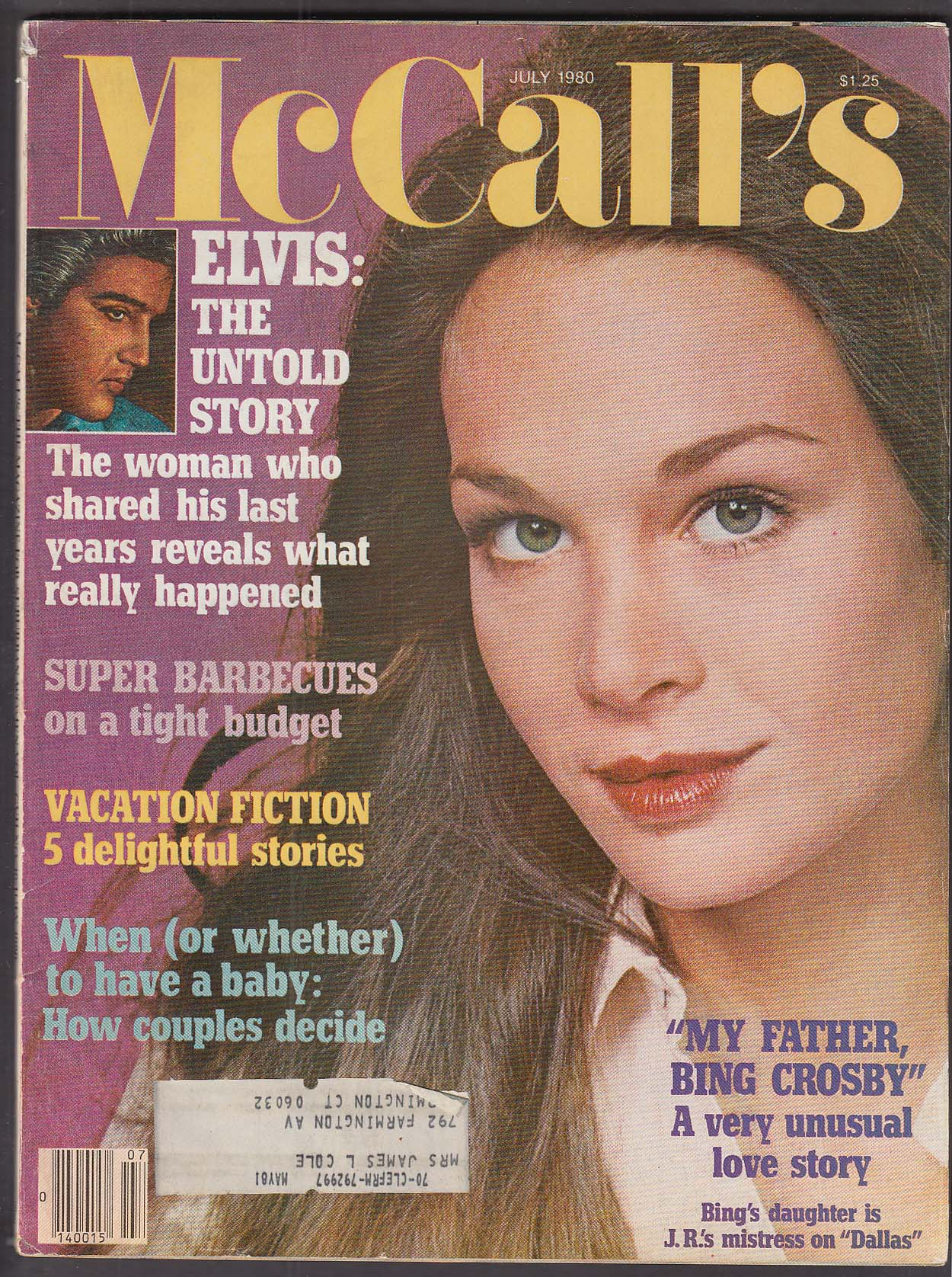 Image for McCALL'S Mary Crosby, Elvis Presley 7 1980