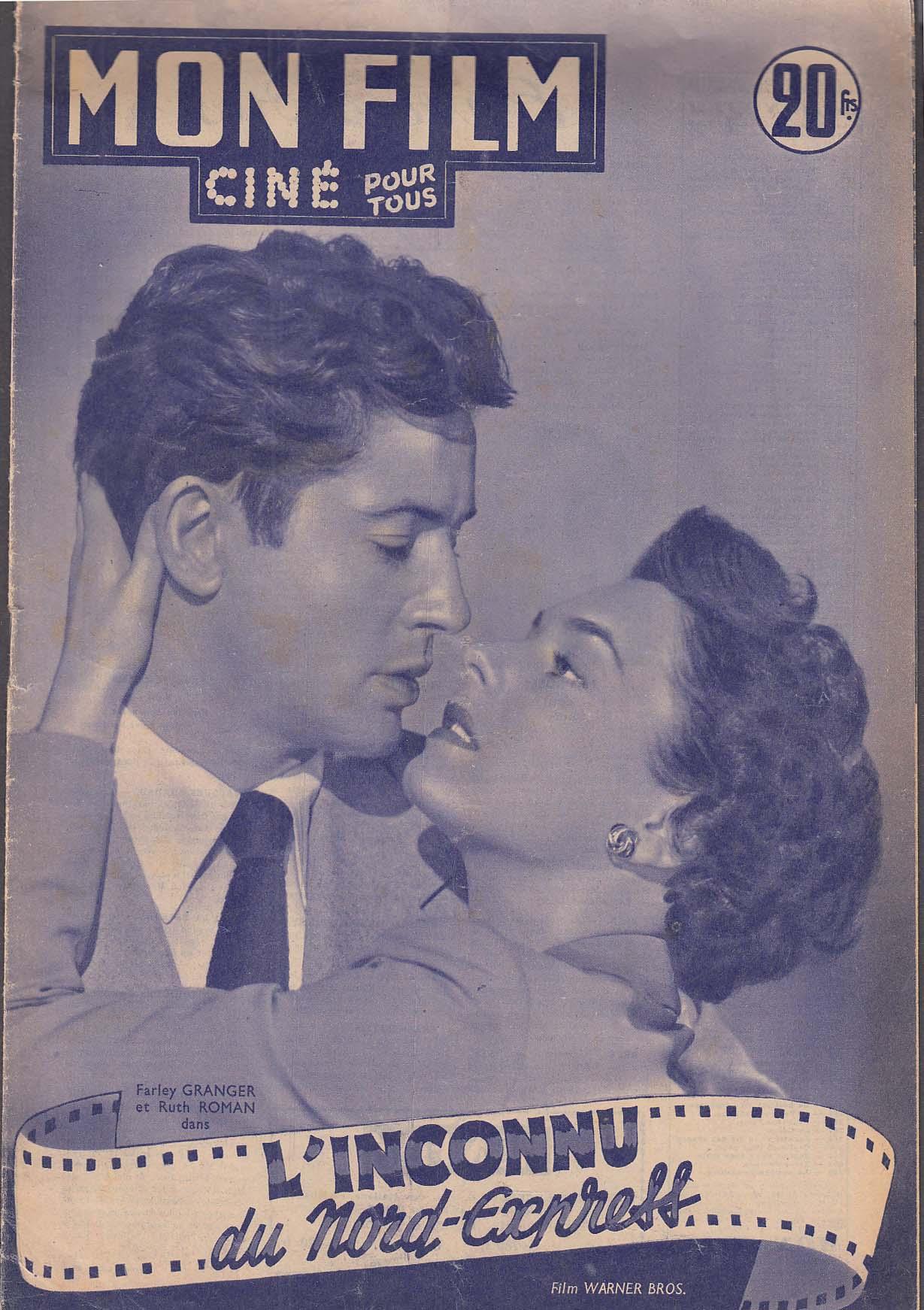 Image for MON FILM Farley Granger Ruth Roman Robert Wagner Leo G Carroll ++ 4/2 1952