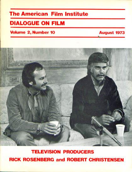 Image for DIALOGUE ON FILM Rick Rosenberg & Rob Christensen American Film Institute 8 1973