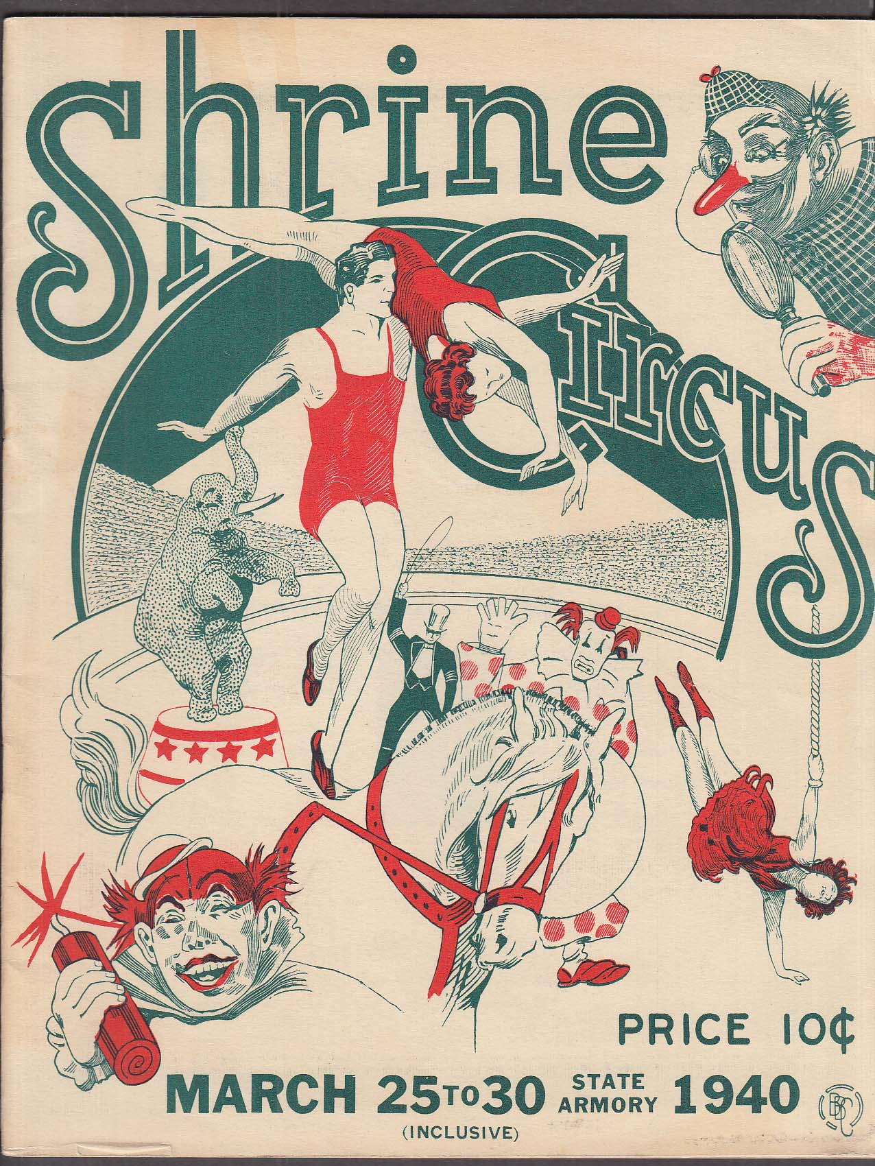 Image for Sphinx Temple Shrine Circus Hartford 1940 program