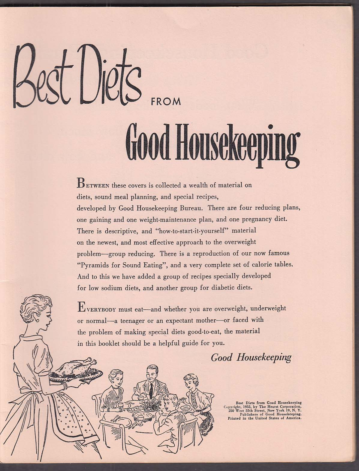 Best Diets from Good Housekeeping 1955 booklet