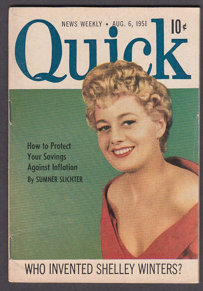 Image for QUICK Shelley Winters Prince Charles Frank Costello 8/6 1951