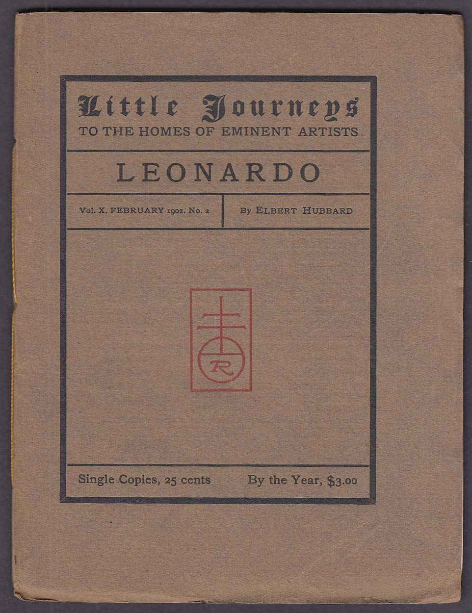 Elbert Hubbard: Little Journeys 2 1902: Leonardo