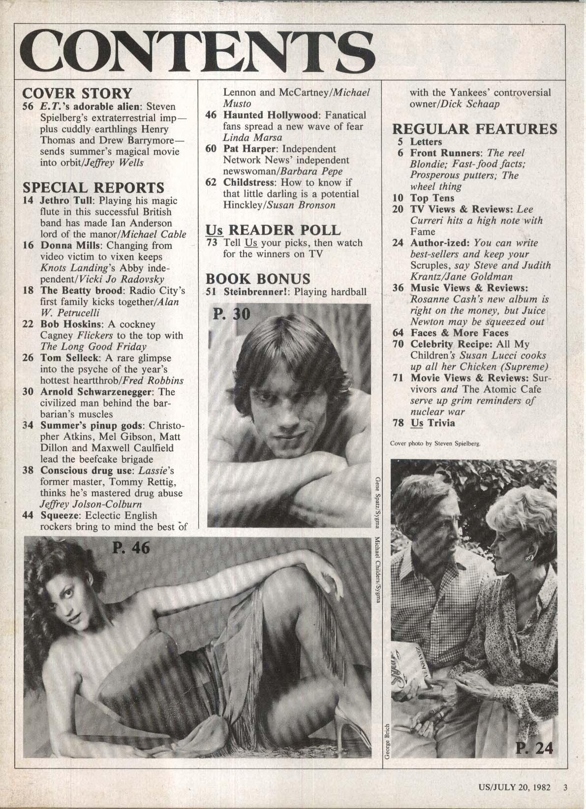 US ET Extraterrestrial Tom Selleck George Steinbrenner stalkers ++ 7/20 1982