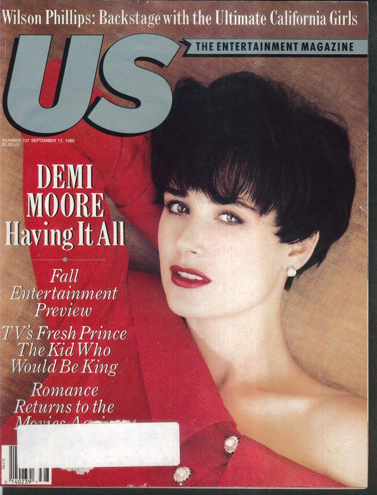 US Demi Moore Will Smith Wilson Phillips 9/17 1990