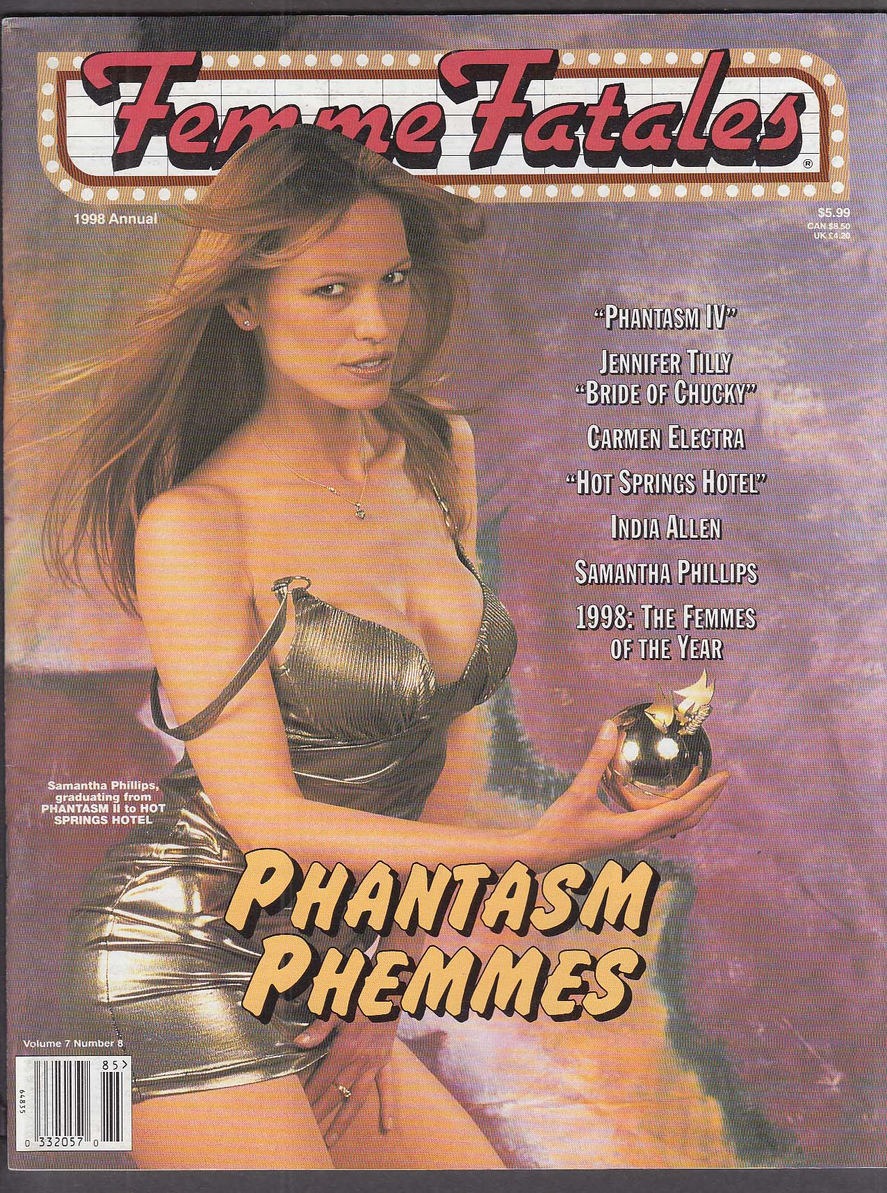 FEMME FATALES Samantha Phillips Carmen Electra 1998 Annual