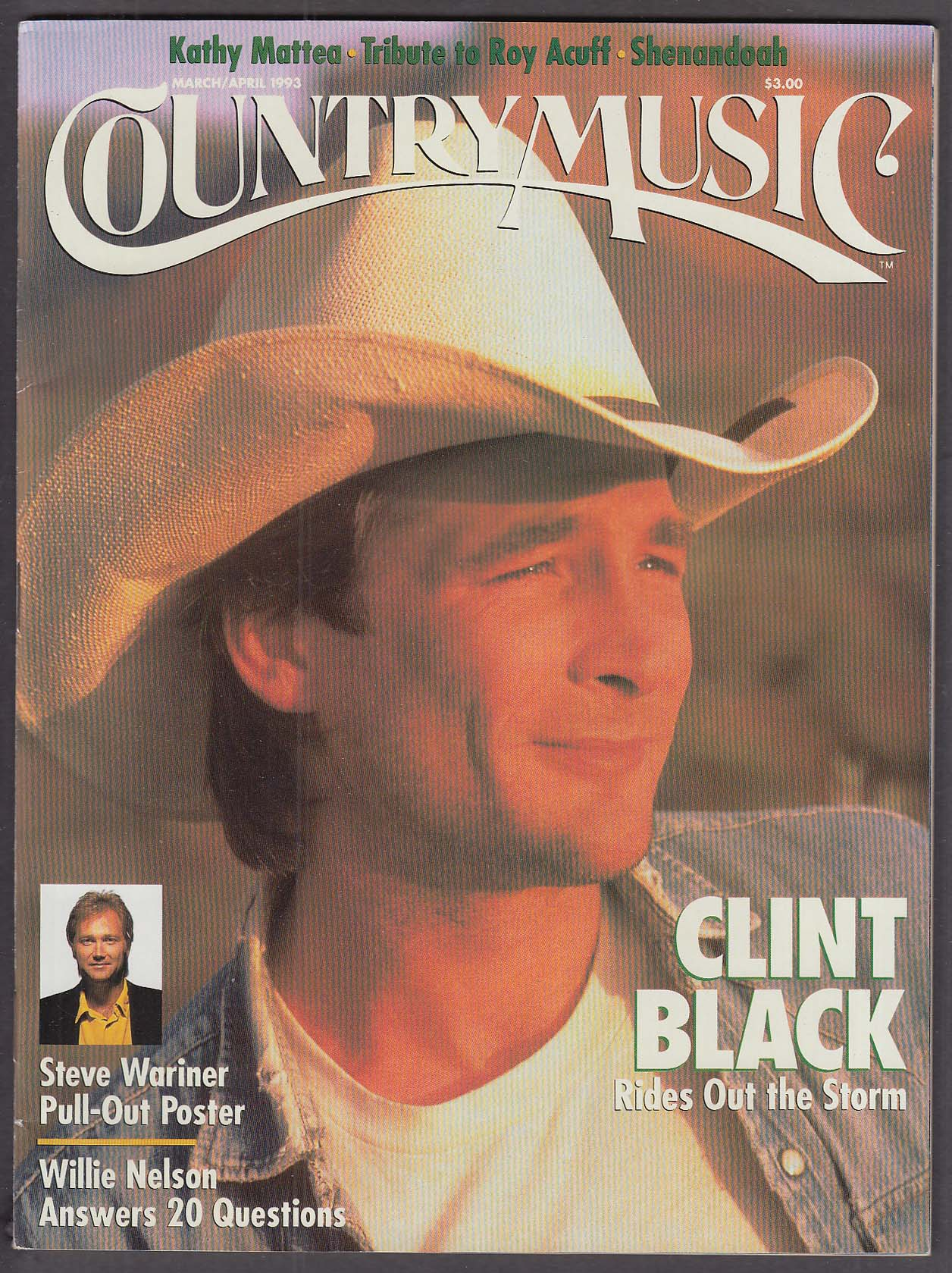COUNTRY MUSIC Clint Black Acuff tribute Steve Wariner Willie Nelson ++ 3 1993