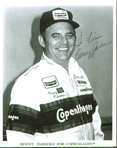 Image for NASCAR driver Benny Parsons SIGNED 8x10 photo
