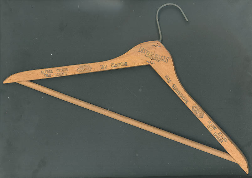 Image for Little Falls Dry Cleaning coathanger 1940s