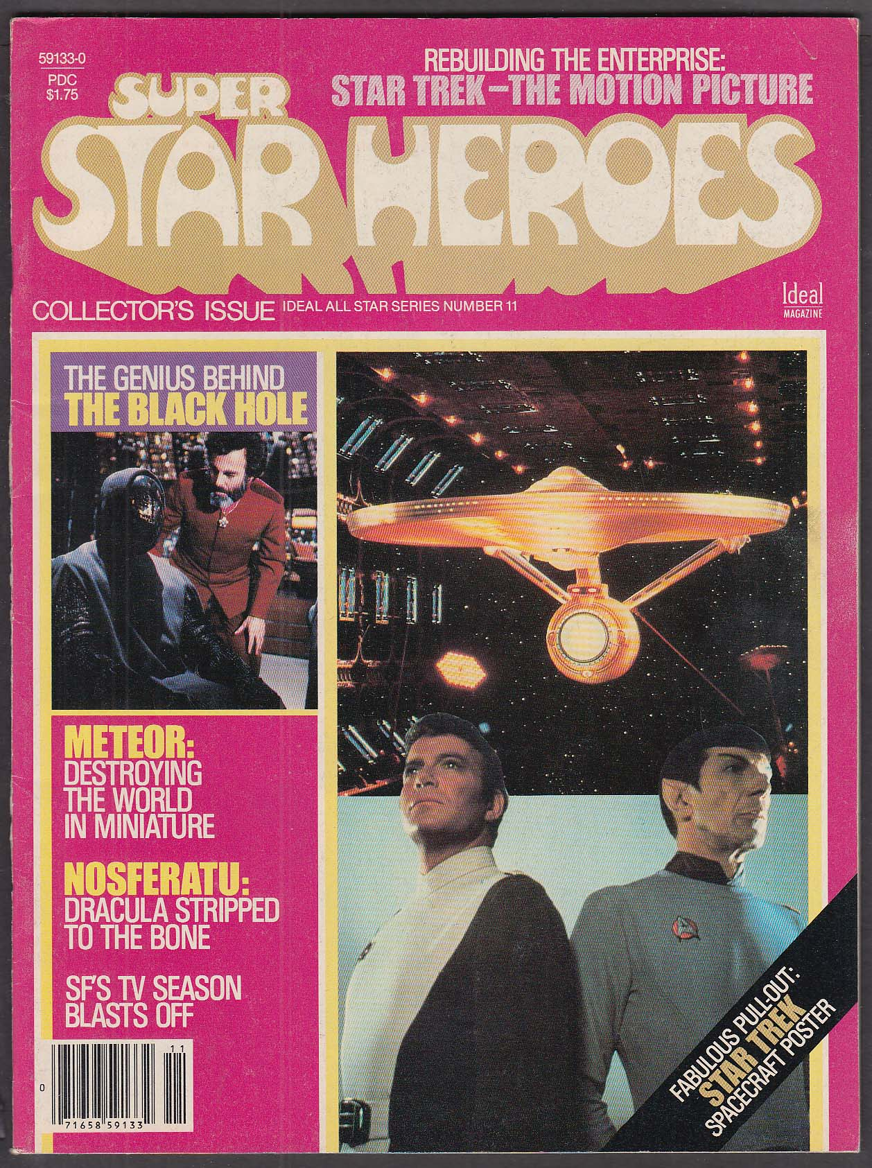 SUPER STAR HEROES #11 Star Trek Meteor Nosferatu Black Hole 1 1980