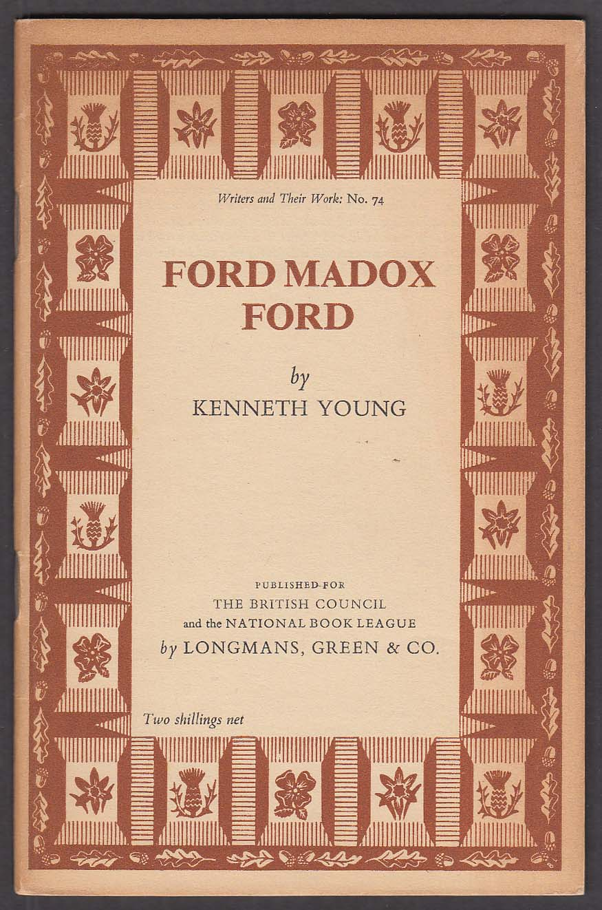 Image for Writers and Their Work #74 Ford Madox Ford by Kenneth Young monograph 1956