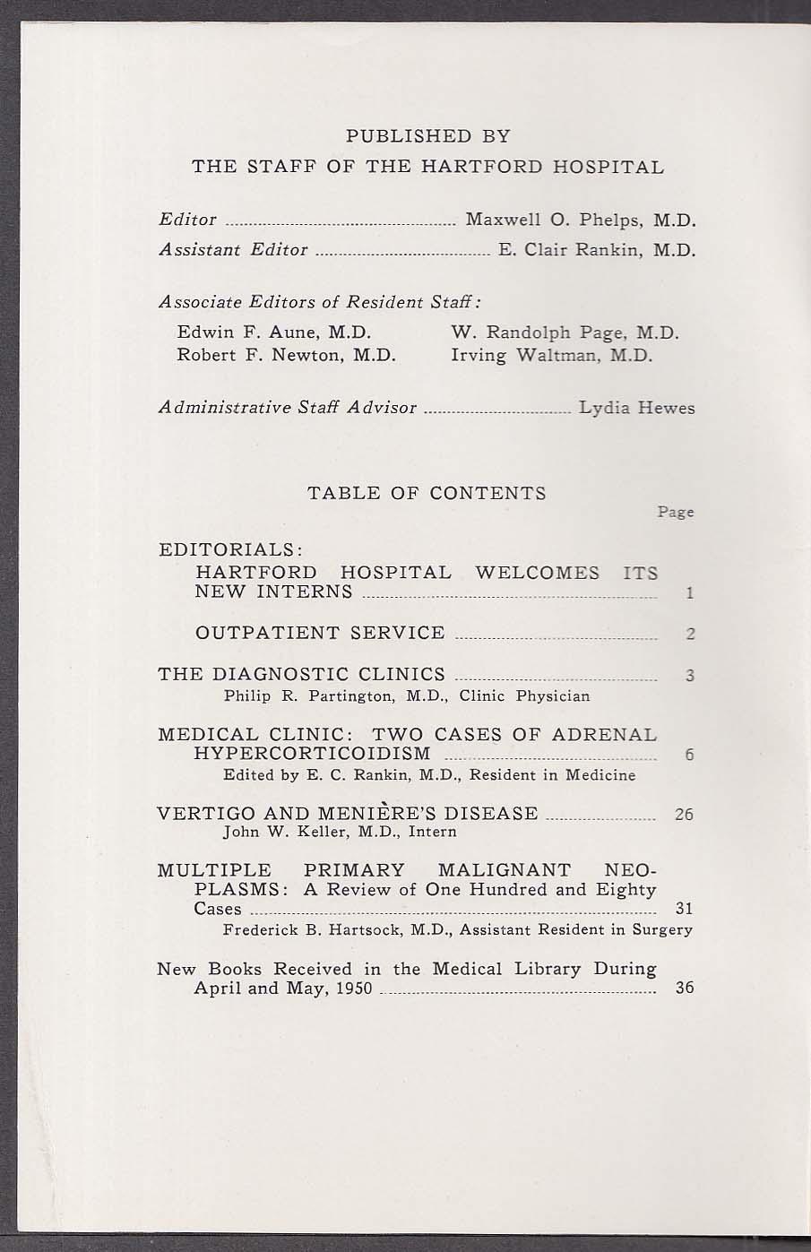 HARTFORD HOSPITAL BULLETIN Hypercorticoidism 6 1950