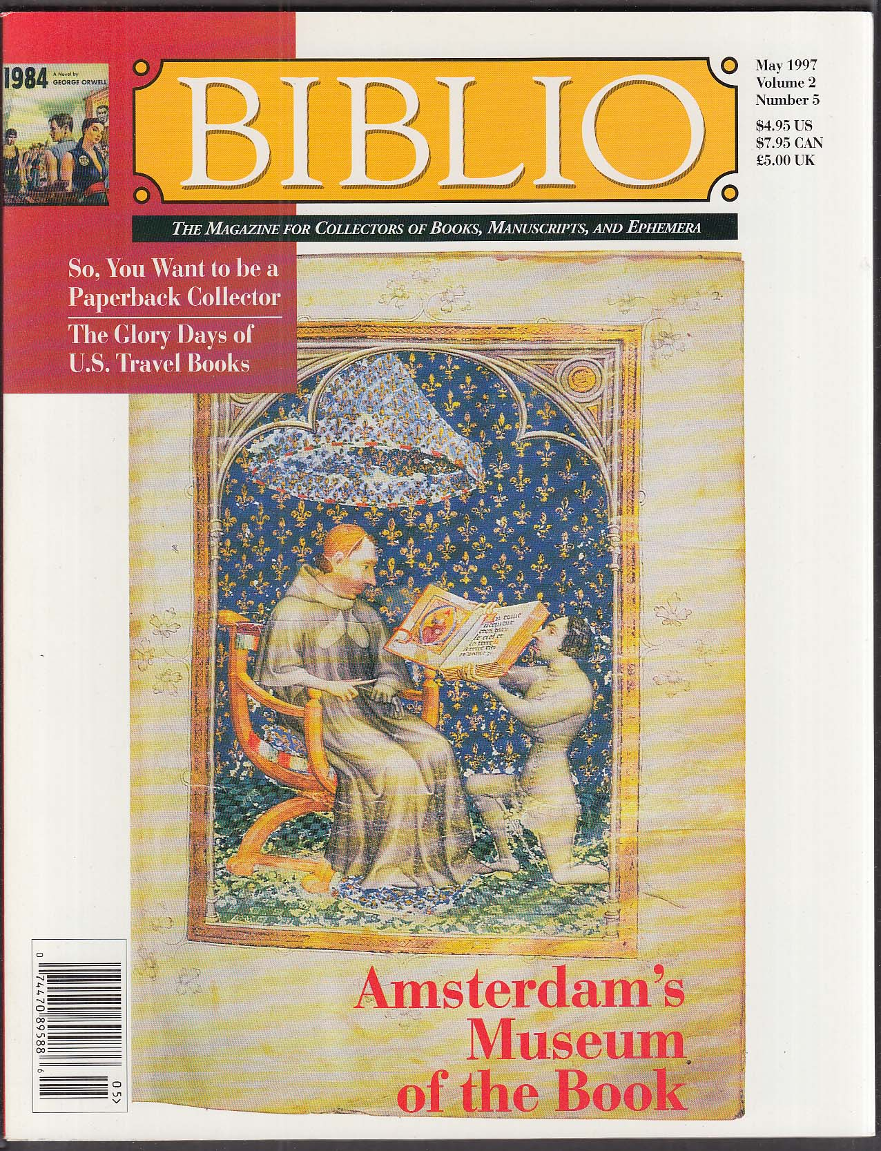 BIBLIO Amsterdam Book Museum; Collecting Paperbacks ++ 5 1997