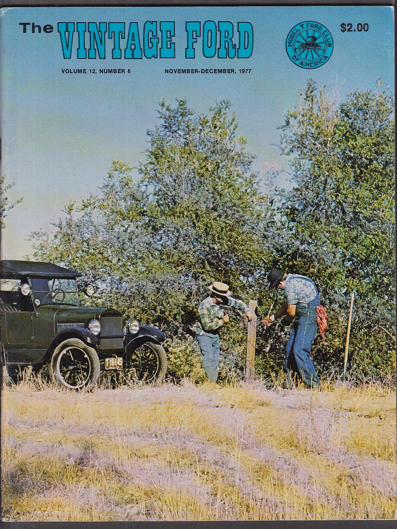 Vintage Ford Model T Club Magazine 11-12 1977