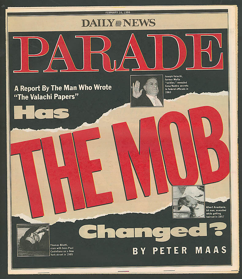 PARADE Hartford Courant Peter Maas on The Mob Barbra Streisand 2/16 1986