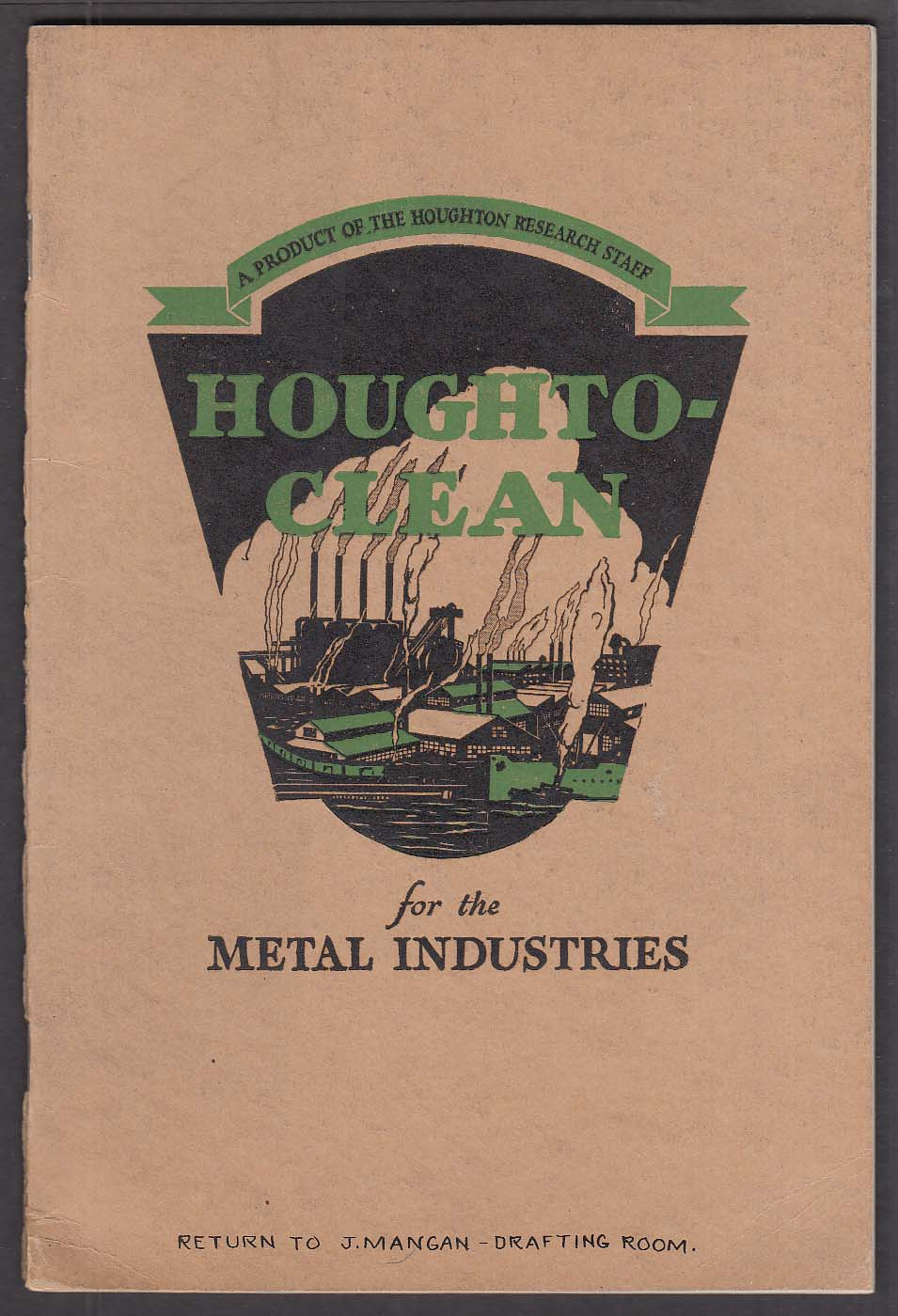 Houghton Houghto-Clean Metal Cleaning Manual 1931