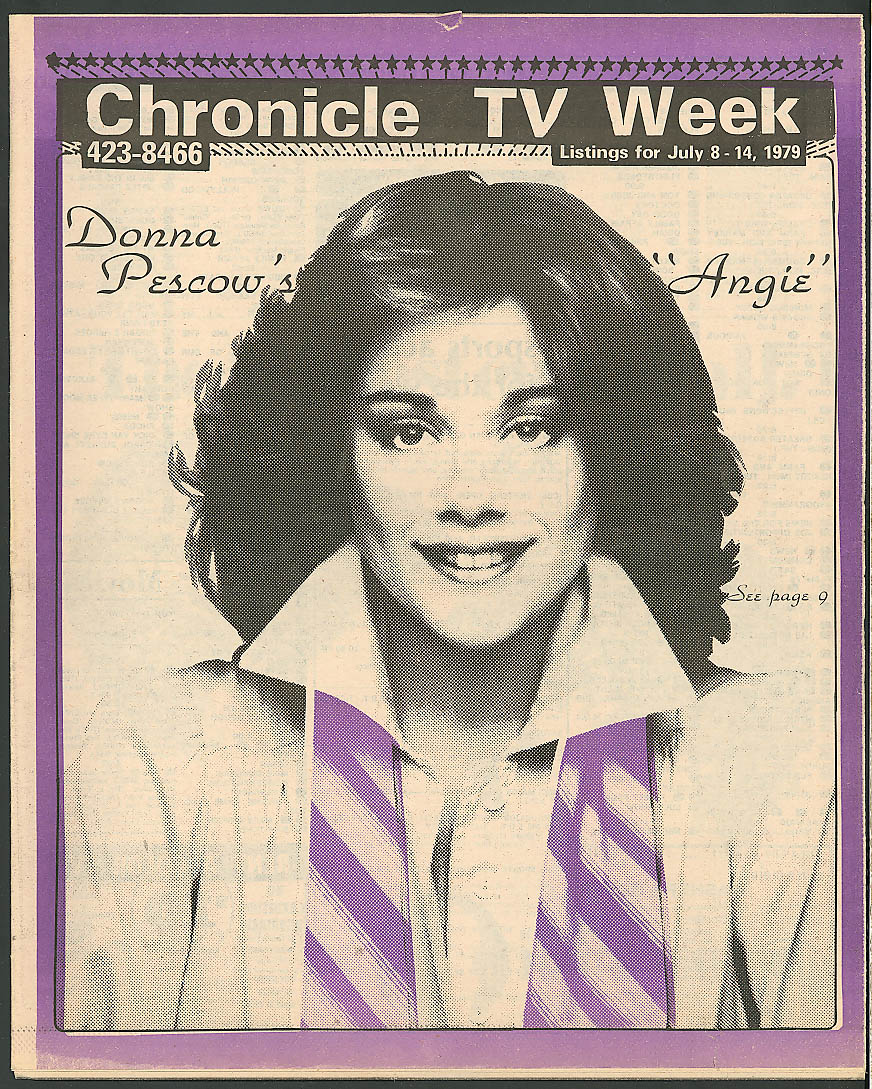 CHRONICLE TV WEEK Donna Pescow Angie ++ 7/8 1979