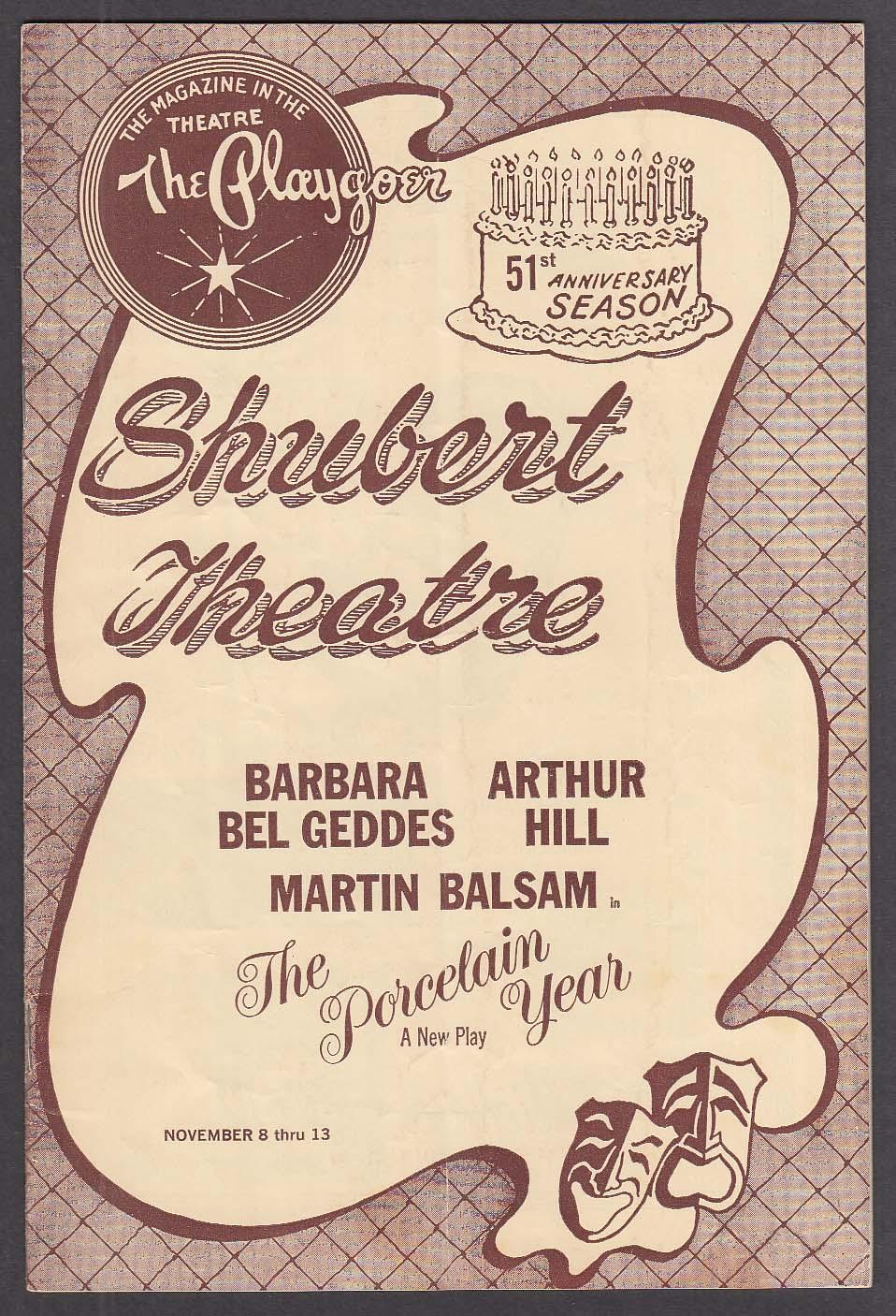 Bel Geddes Porcelain Year World Premiere Shubert Theatre program 1966