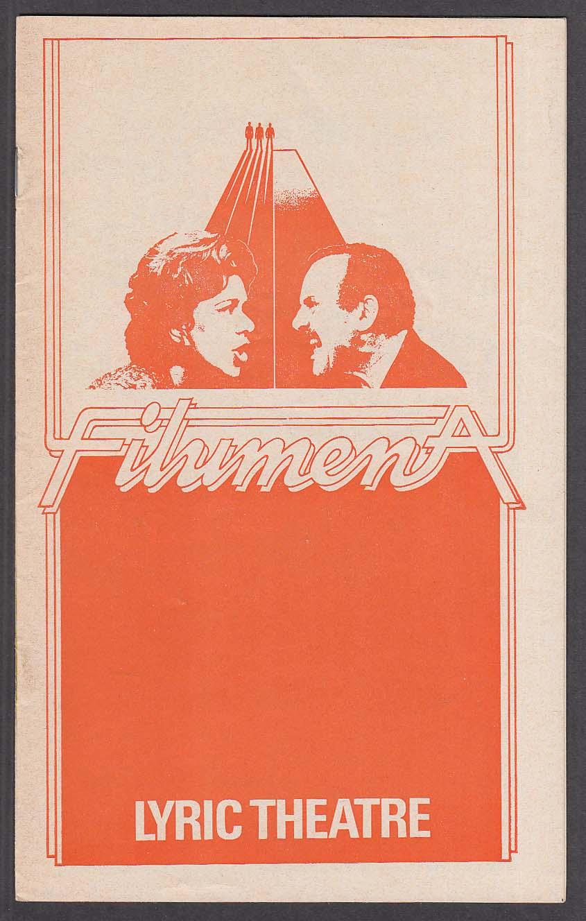 Joan Plowright Pirece Brosnan Filumena program Lyric Theatre London 1978