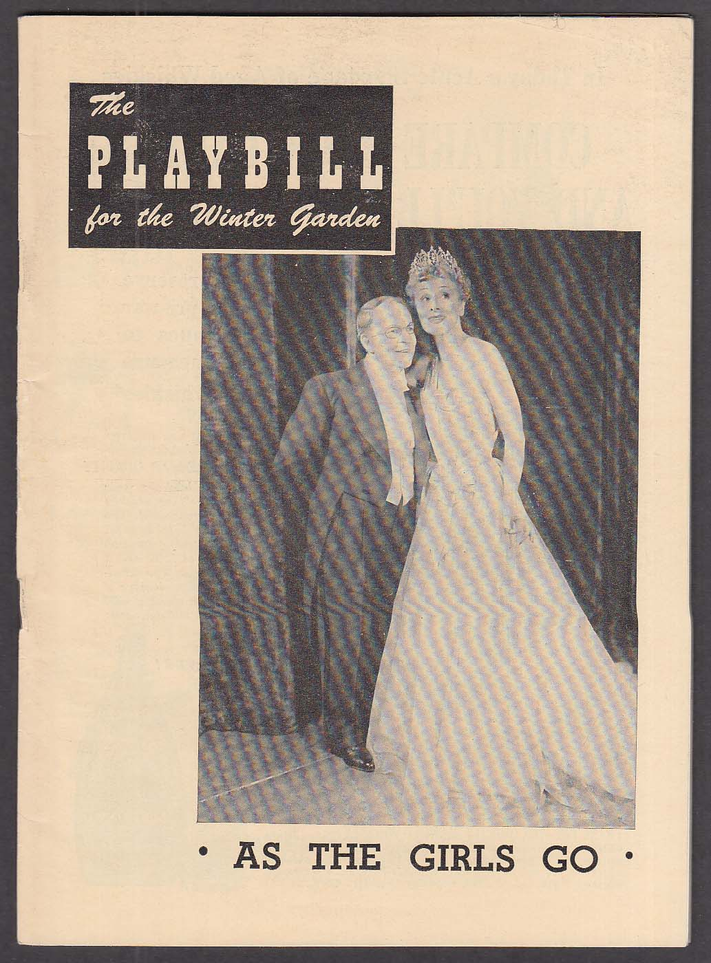 Bobby Clark As The Girls Go opening week Playbill 1948
