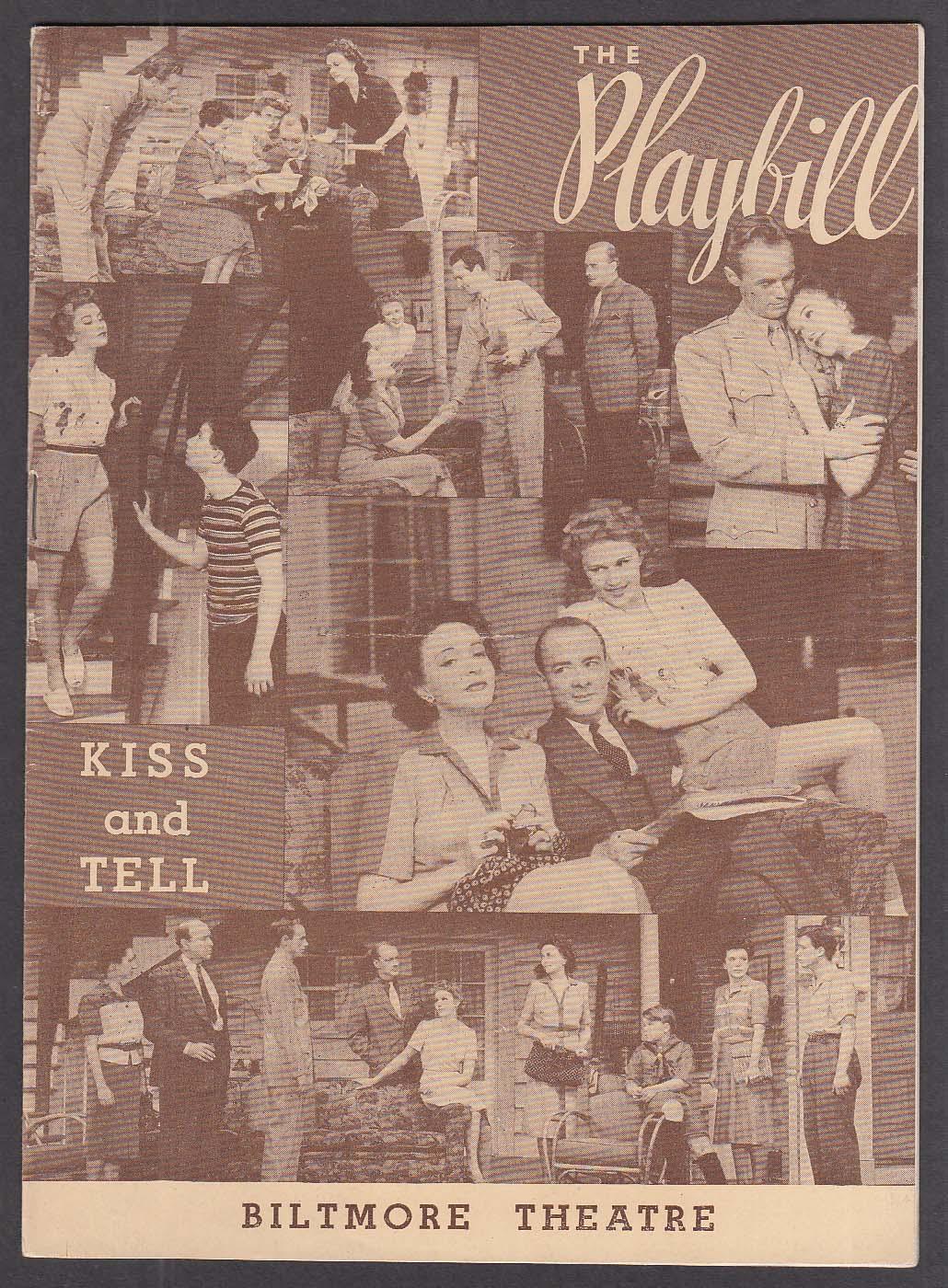Joan Caulfield Kiss & Tell 1st run Playbill 1943