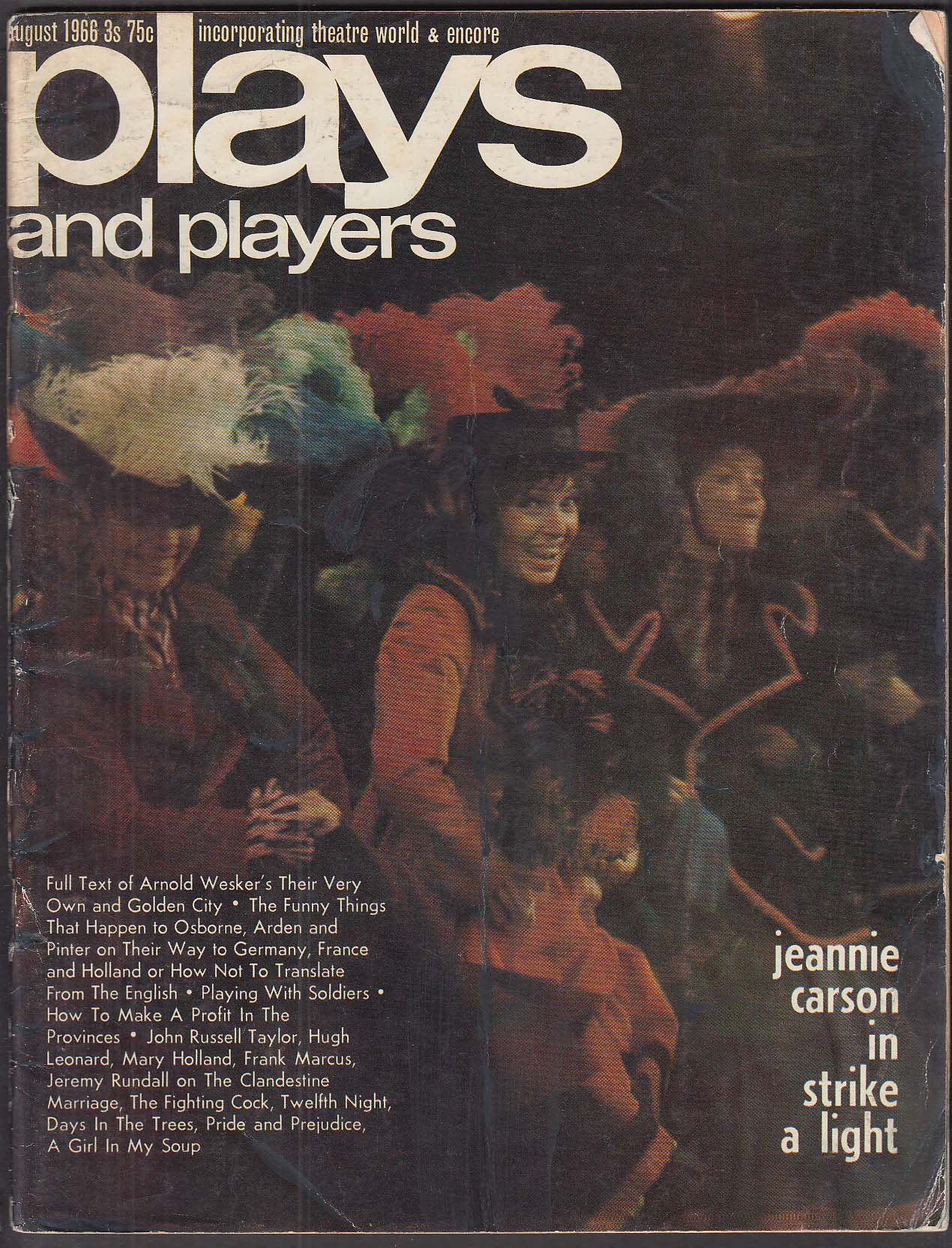 PLAYS & PLAYERS Jeannie Carson Laurence Olivier Kenneth Tynan 8 1966