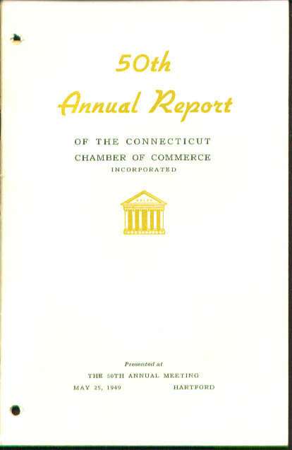 Connecticut Chamber of Commerce Report 1949