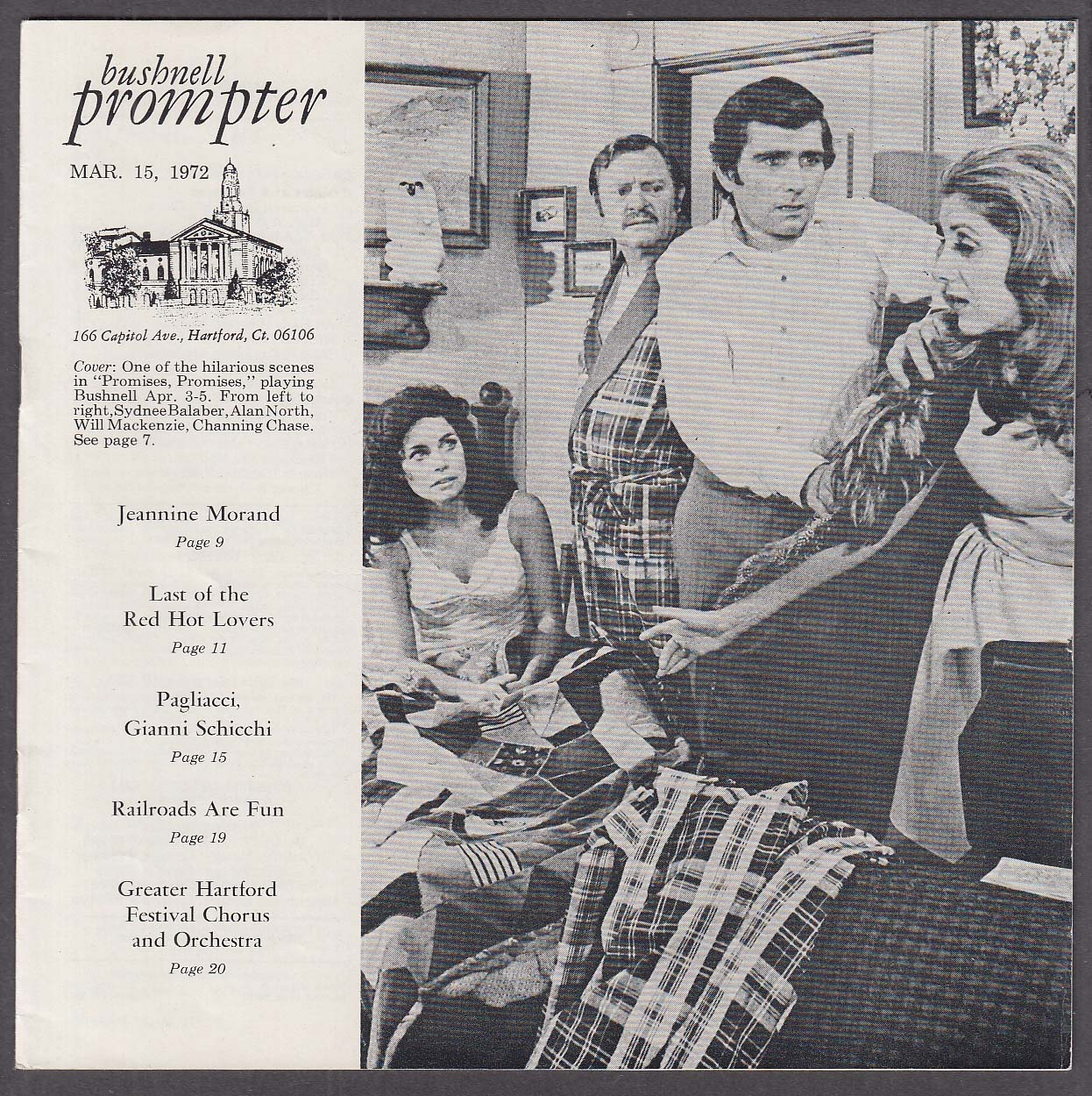 Jeannine Morand Stubby Kaye Bushnell Prompter 3/16 1972