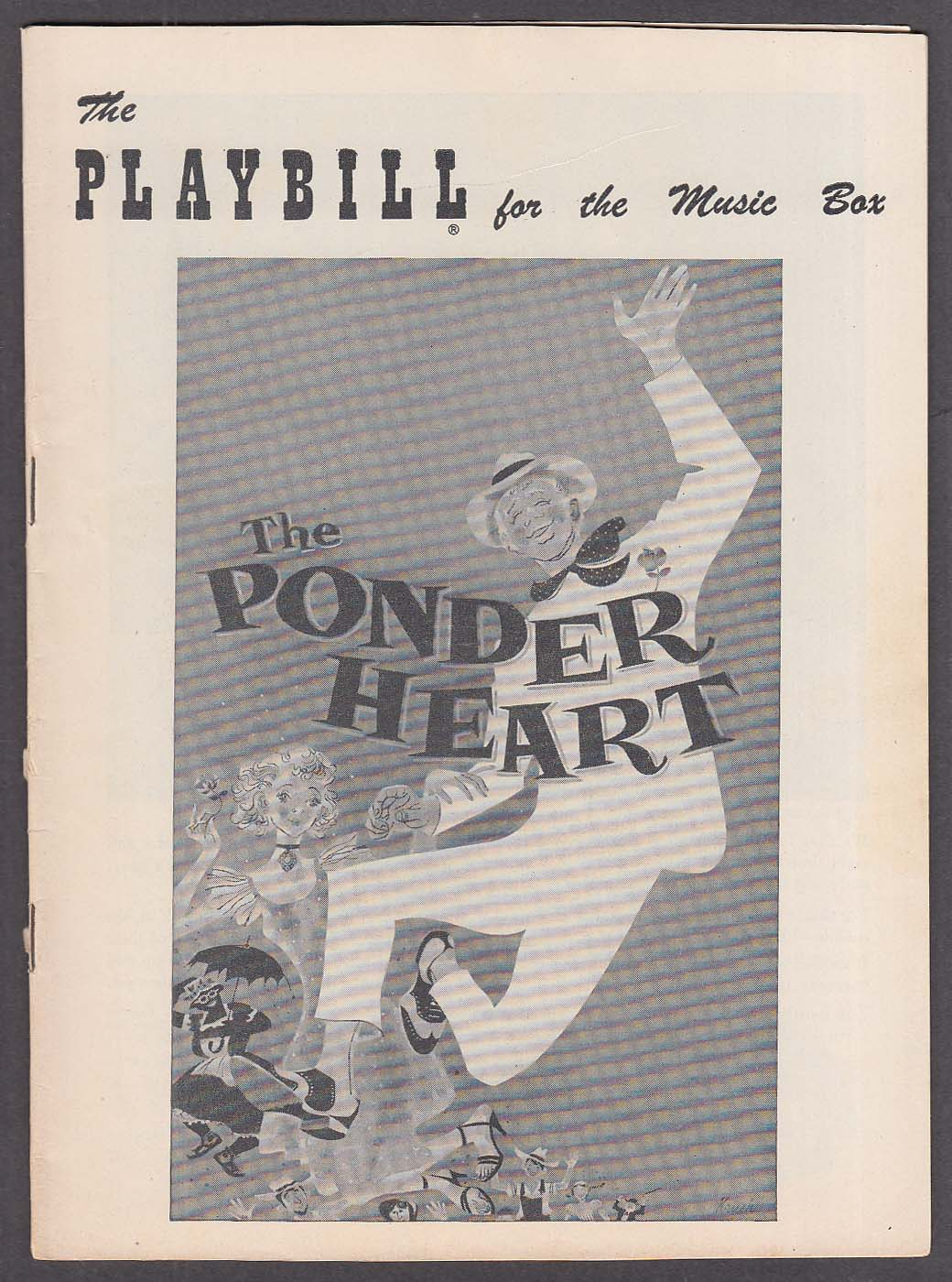 David Wayne Una Merkel The Ponder Heart at Music Box Playbill 1956