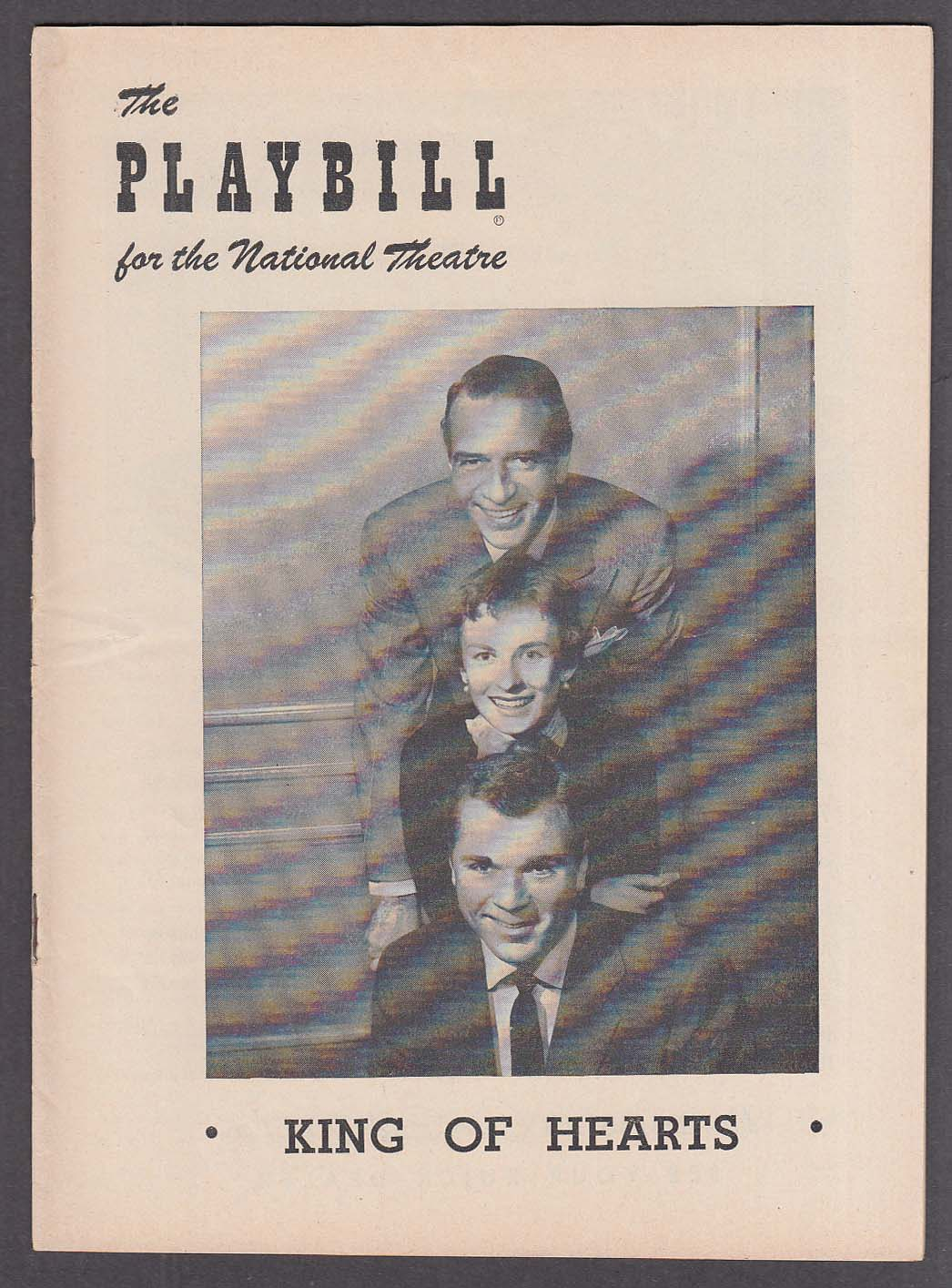 Jackie Cooper Cloris Leachman King of Hearts National Theatre Playbill 1954
