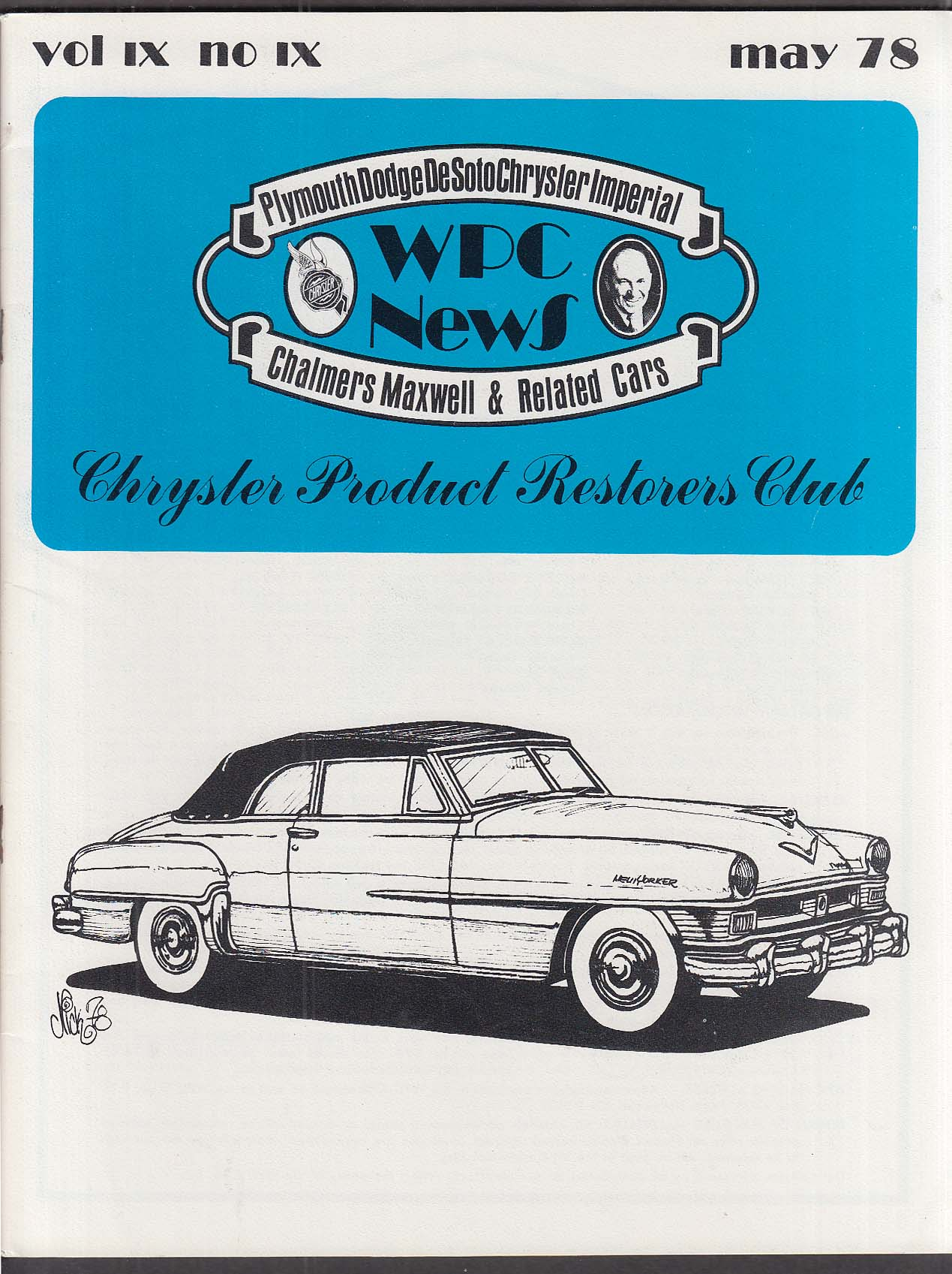 WPC NEWS 1951 1952 Chrysler 5 1978