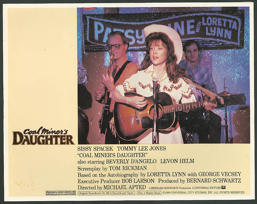 Image for Sissy Spacek with guitar Coal Miner's Daughter lobby card 1980