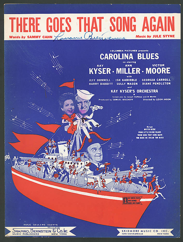 Image for There Goes That Song Again movie sheet music 1944 Carolina Blues Kay Kyser