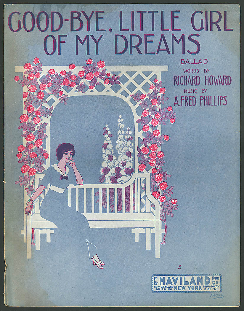 Good-Bye Little Girl of My Dreams pretty girl music 1913 Starmer art