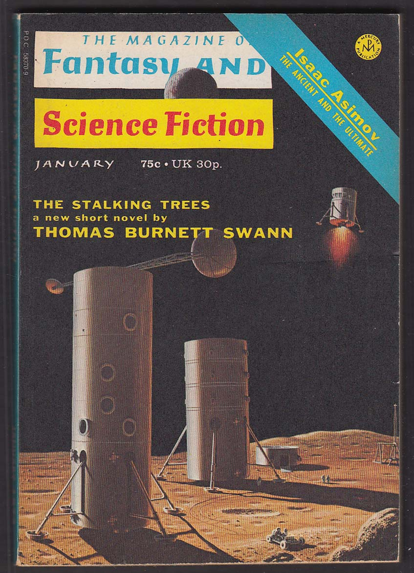 FANTASY & SCIENCE FICTION Isaac Asimov Thomas Burnett Swann Malzberg ++ 1 1973