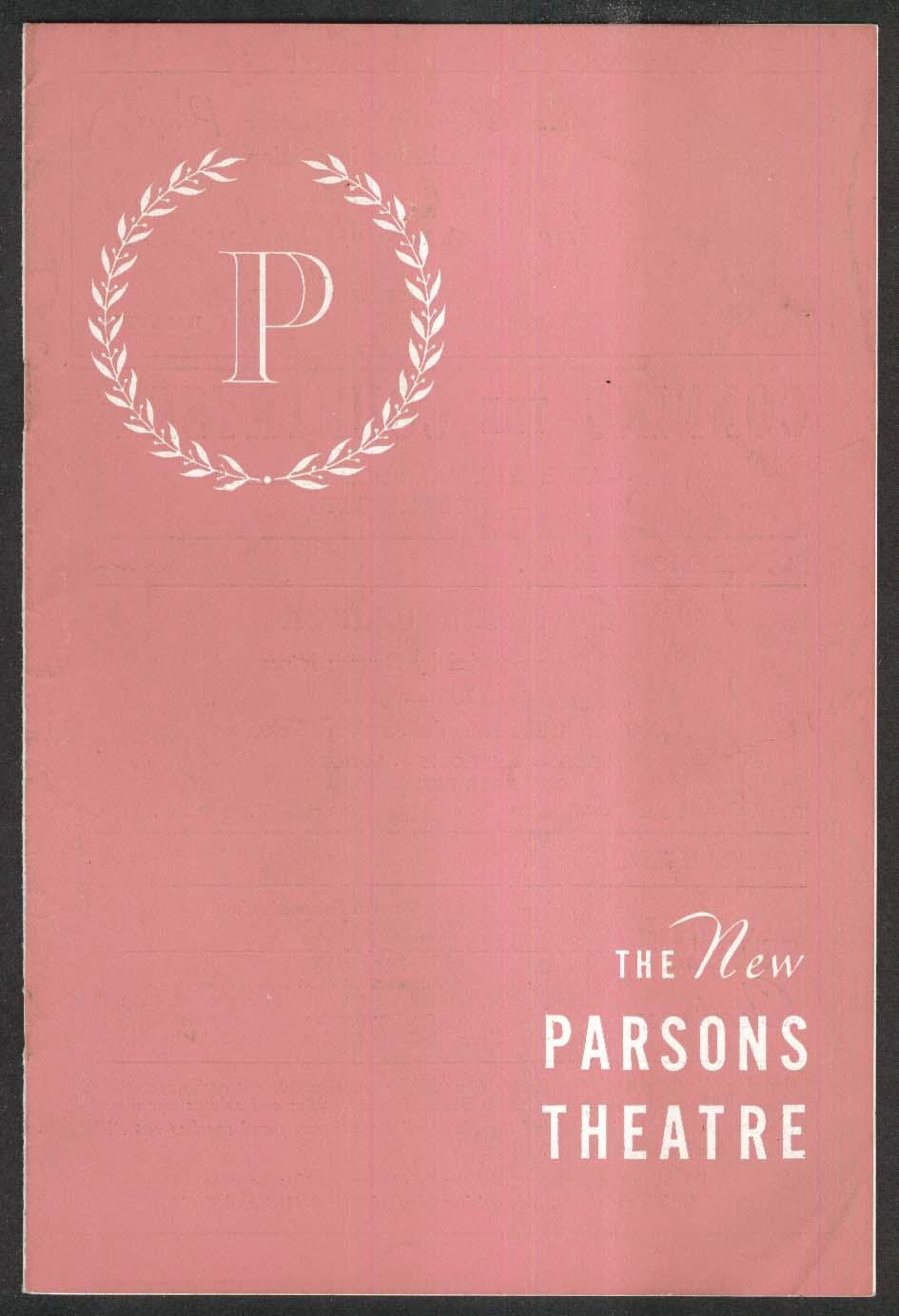Bell Book & Candle New Parsons Theatre program 1953 Joan Bennett Zachary Scott