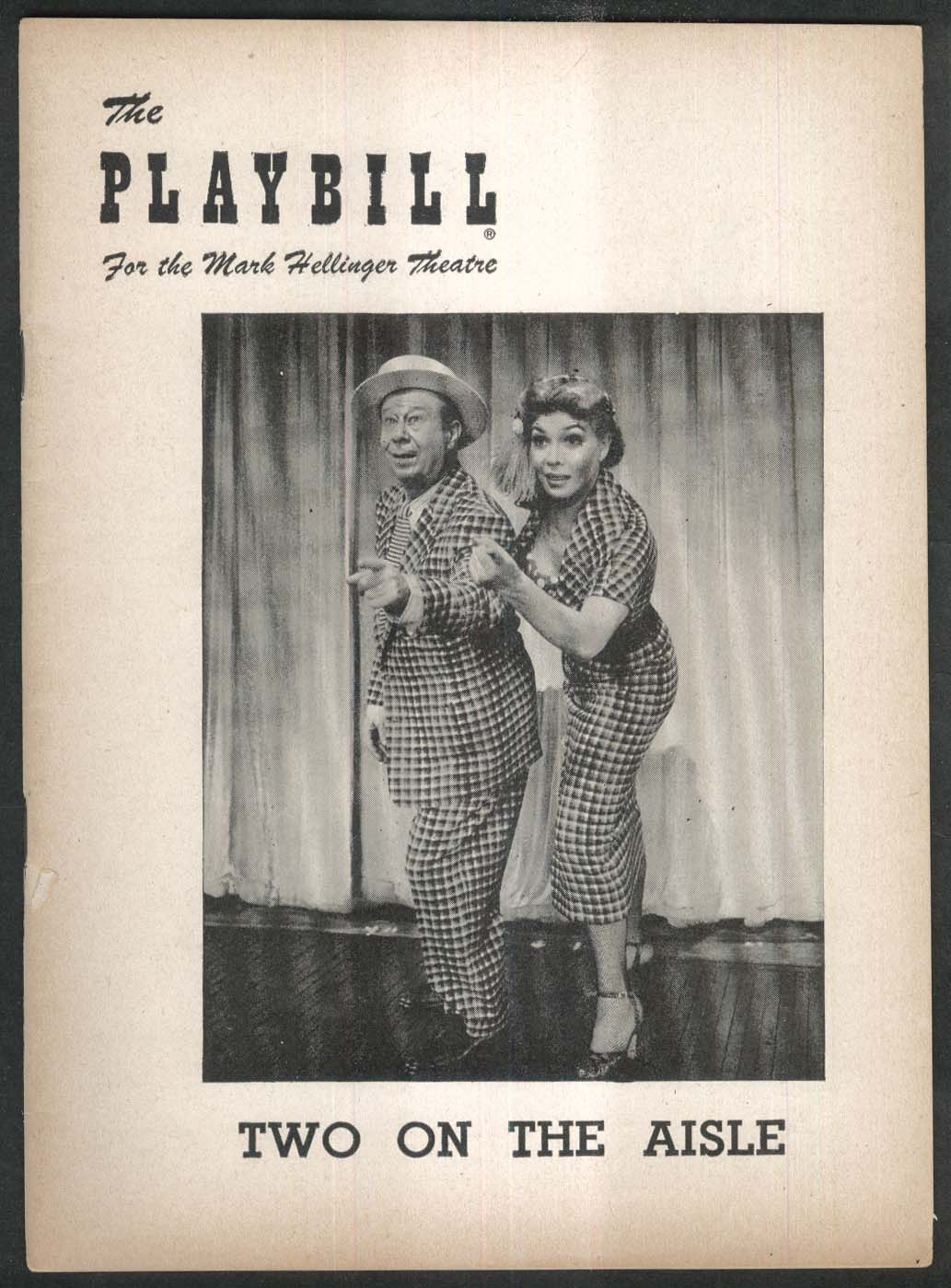 Bert Lahr Dolores Gray Two on the Aisle Playbill 1951
