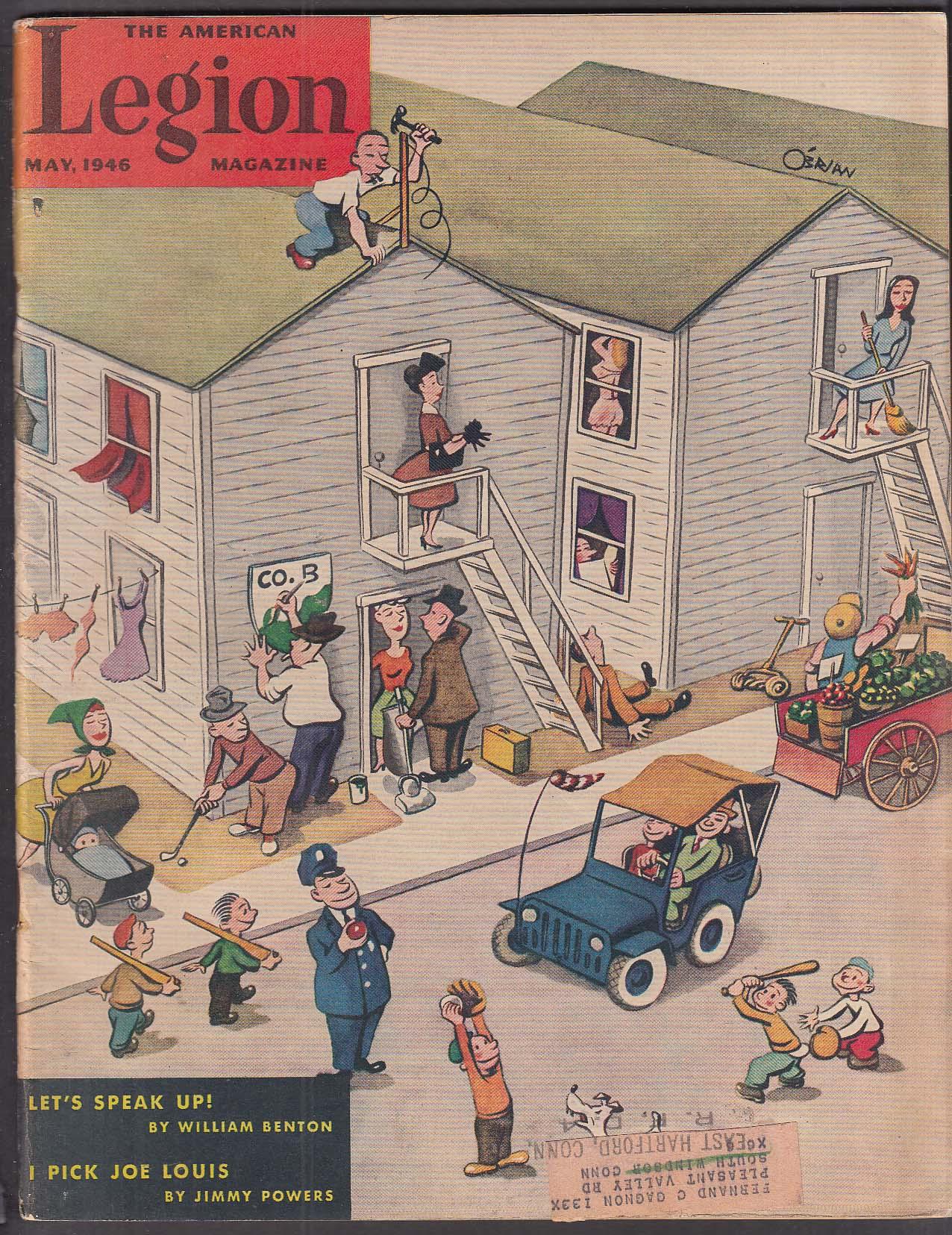 AMERICAN LEGION Louis vs Conn William Benton 5 1946