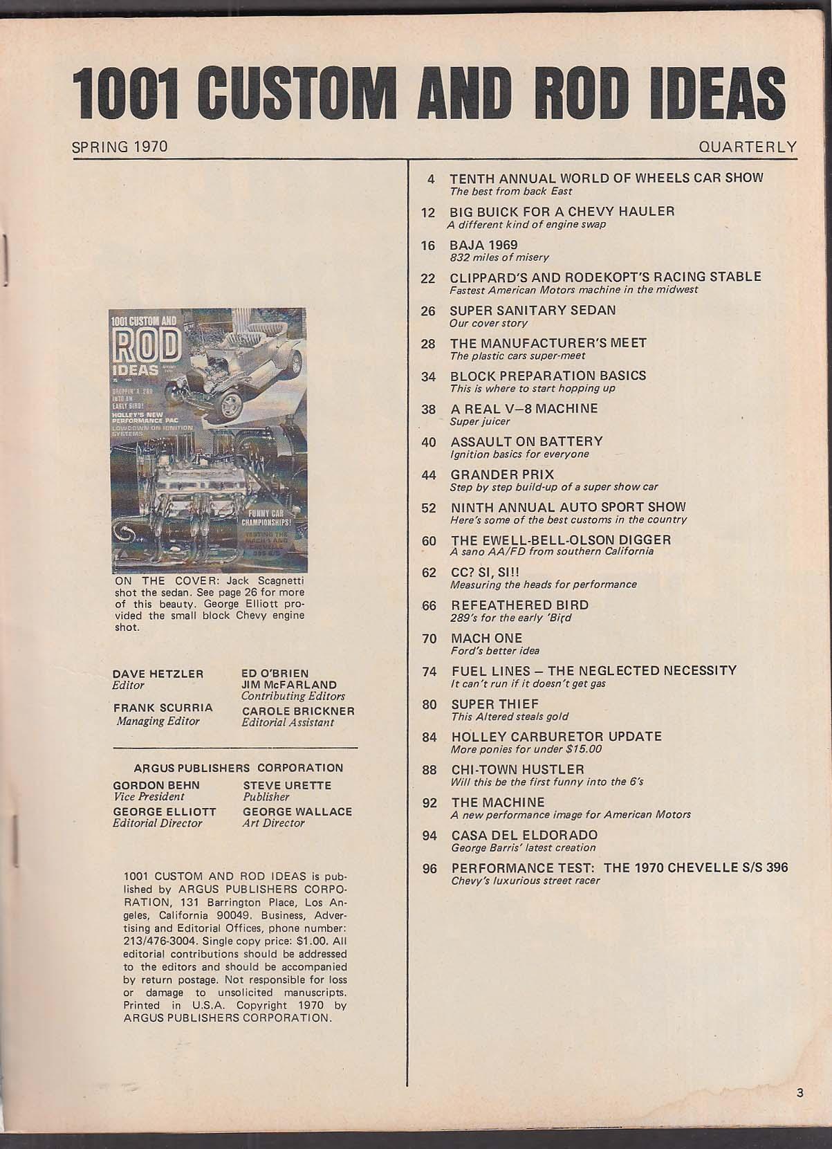 1001 CUSTOM & ROD IDEAS Mustang Mach I Chevelle SS396 Spring 1970