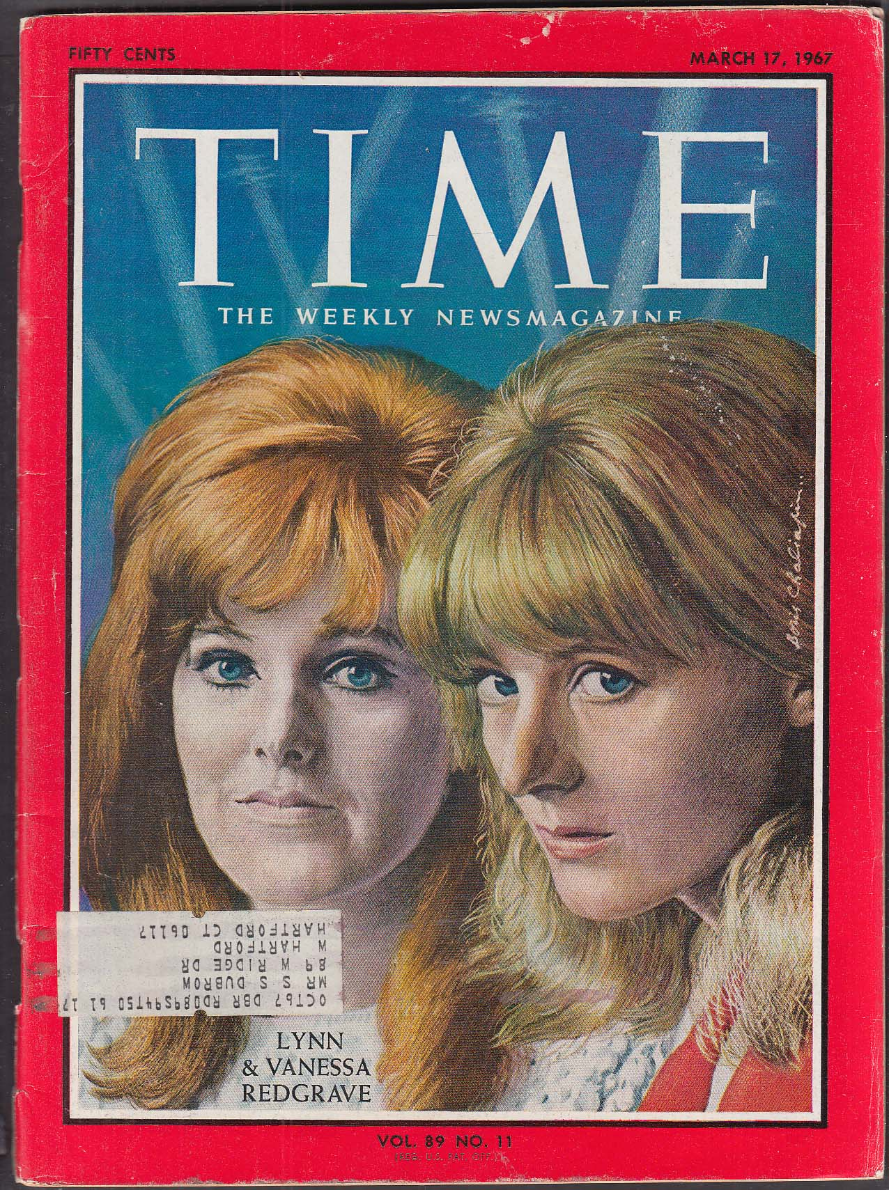 TIME Lynn & Vanessa Redgrave Vietnam Ronald Reagan Kissinger + 3/17 1967