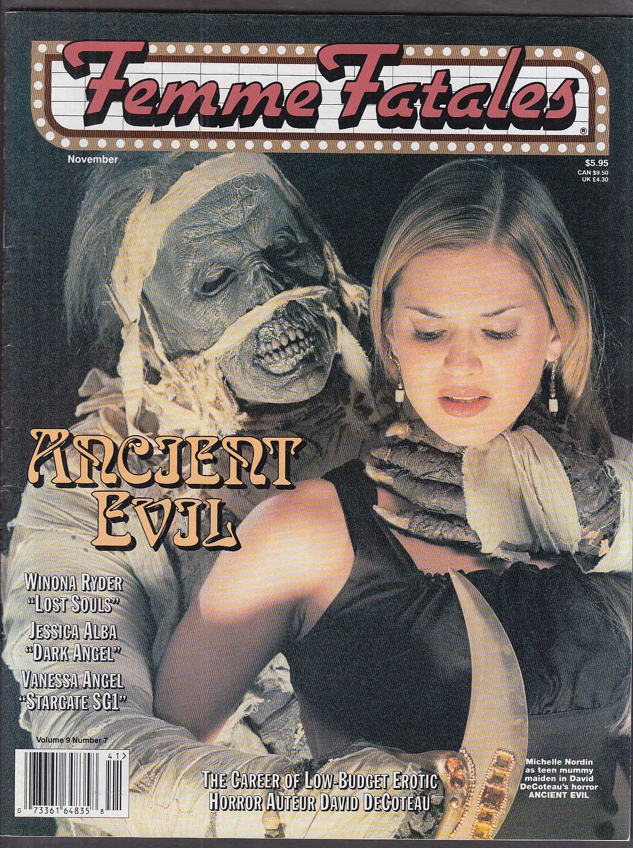 FEMME FATALES Michelle Nordin Winona Ryder Jessica Alba Vanessa Angel ++ 11 2000